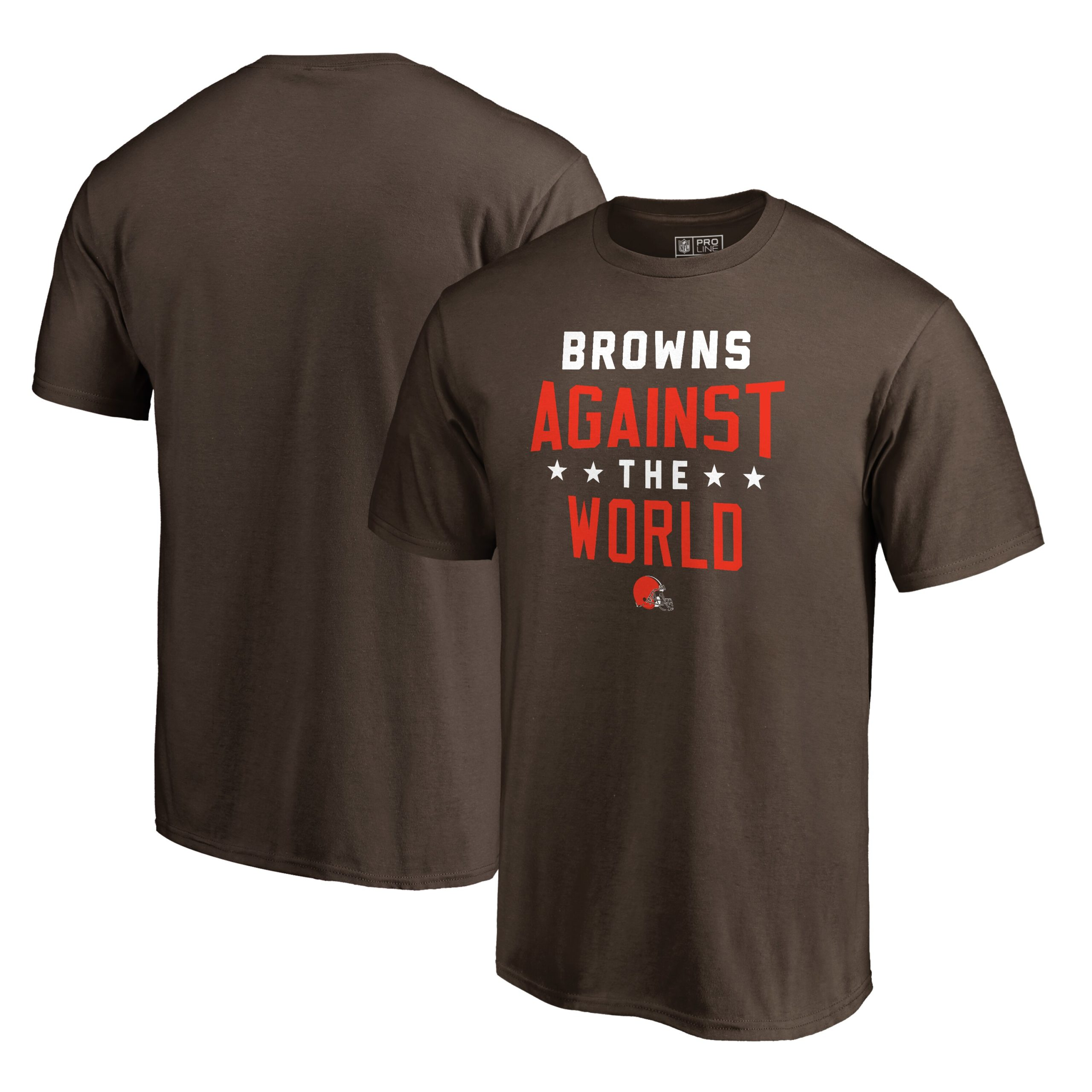 Cleveland Browns NFL Pro Line by Fanatics Branded Against The World T-Shirt - Brown
