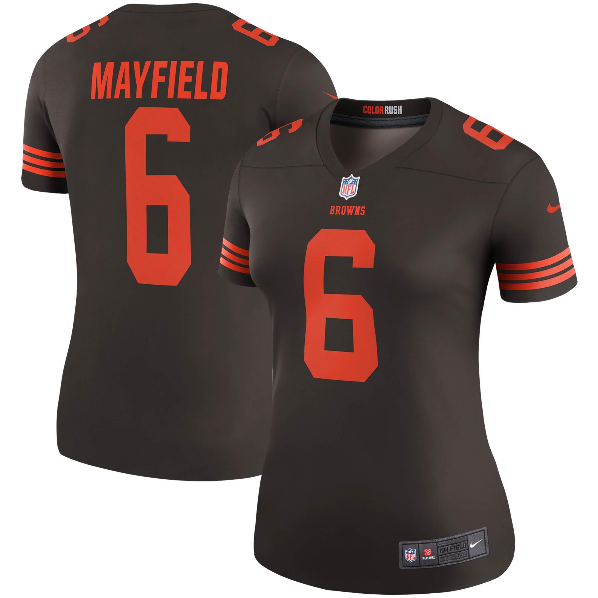 Baker Mayfield Cleveland Browns Nike Women's Player Legend Jersey - Brown