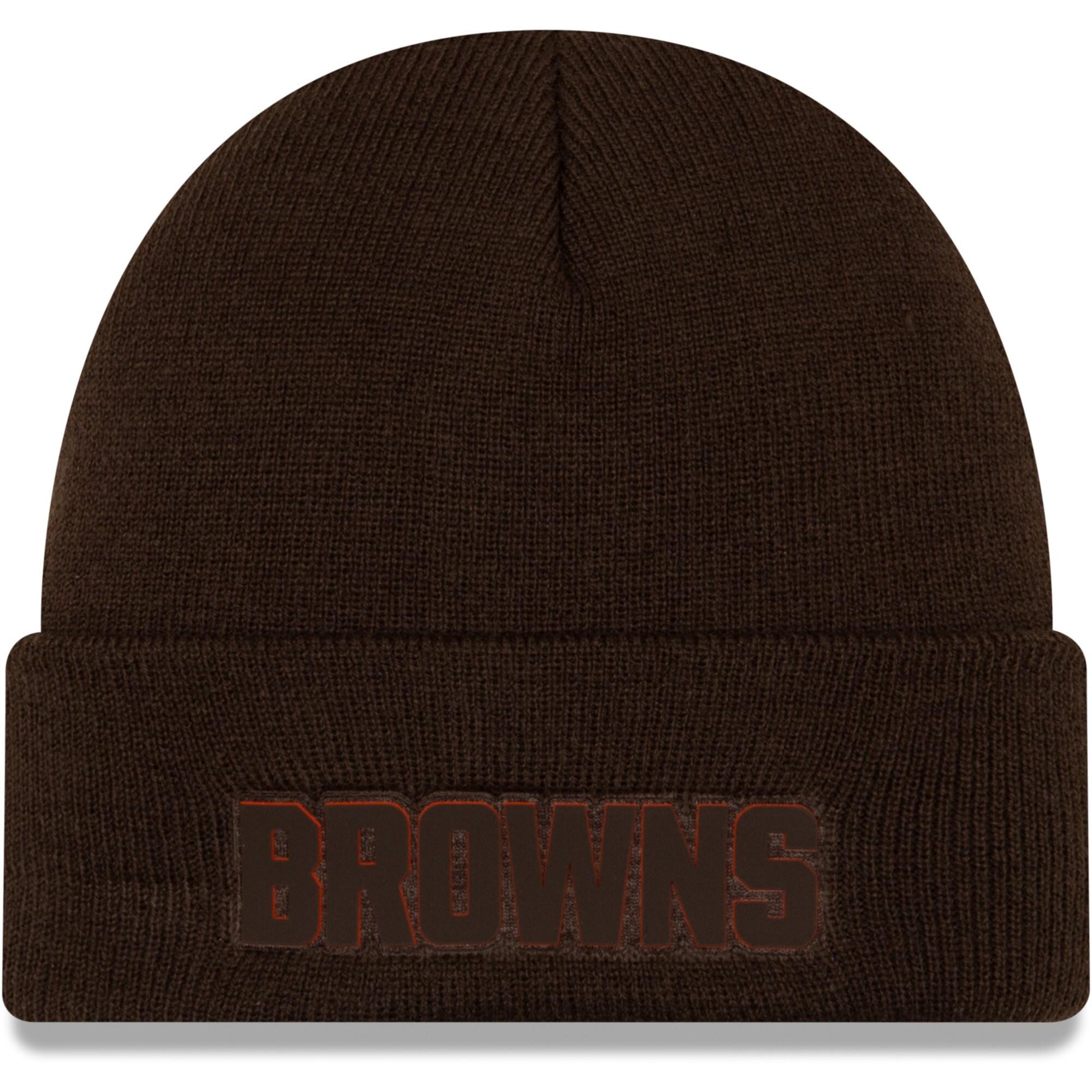 Cleveland Browns New Era Vivid Cuffed Knit Hat - Brown