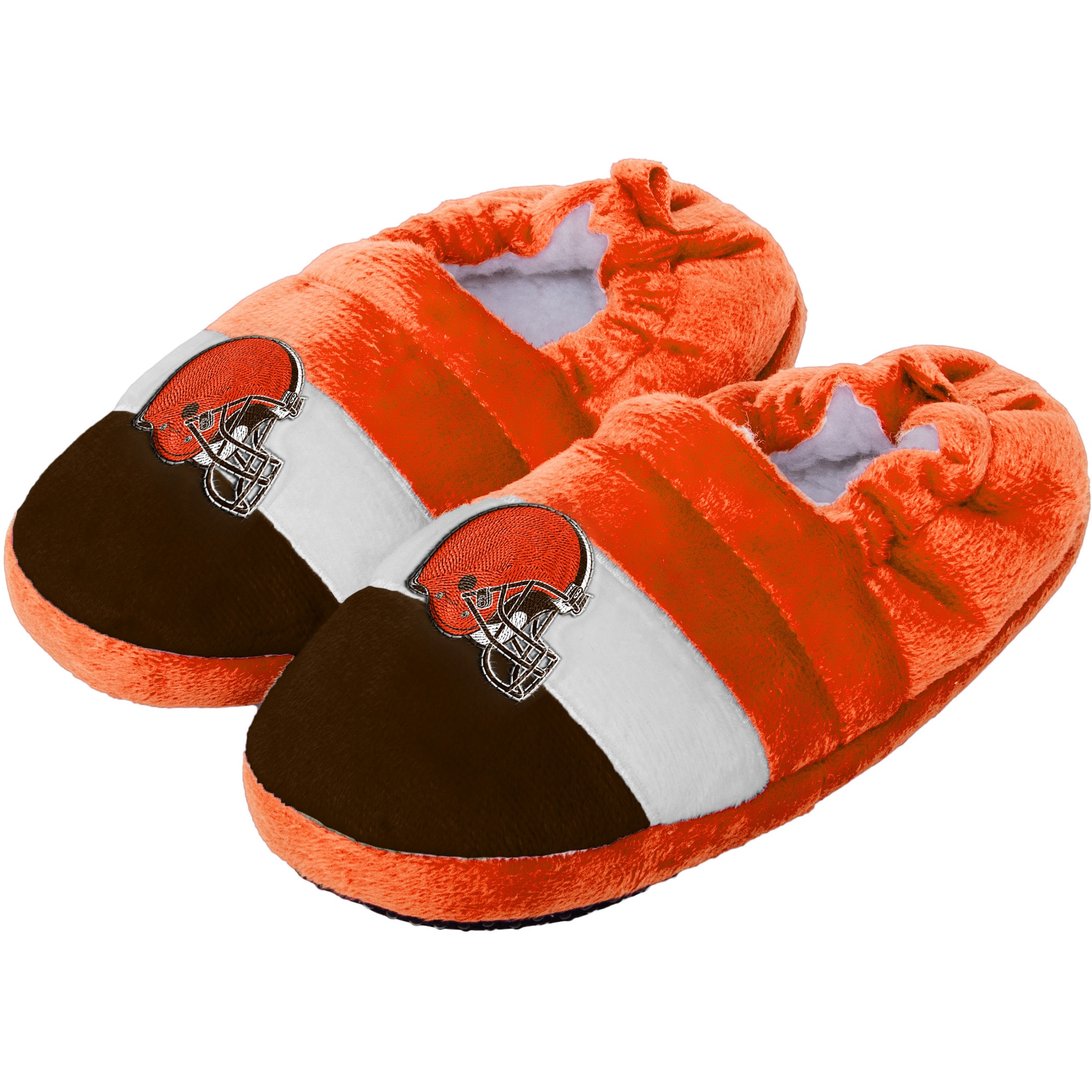 Cleveland Browns Toddler Color Block Close Back Slippers