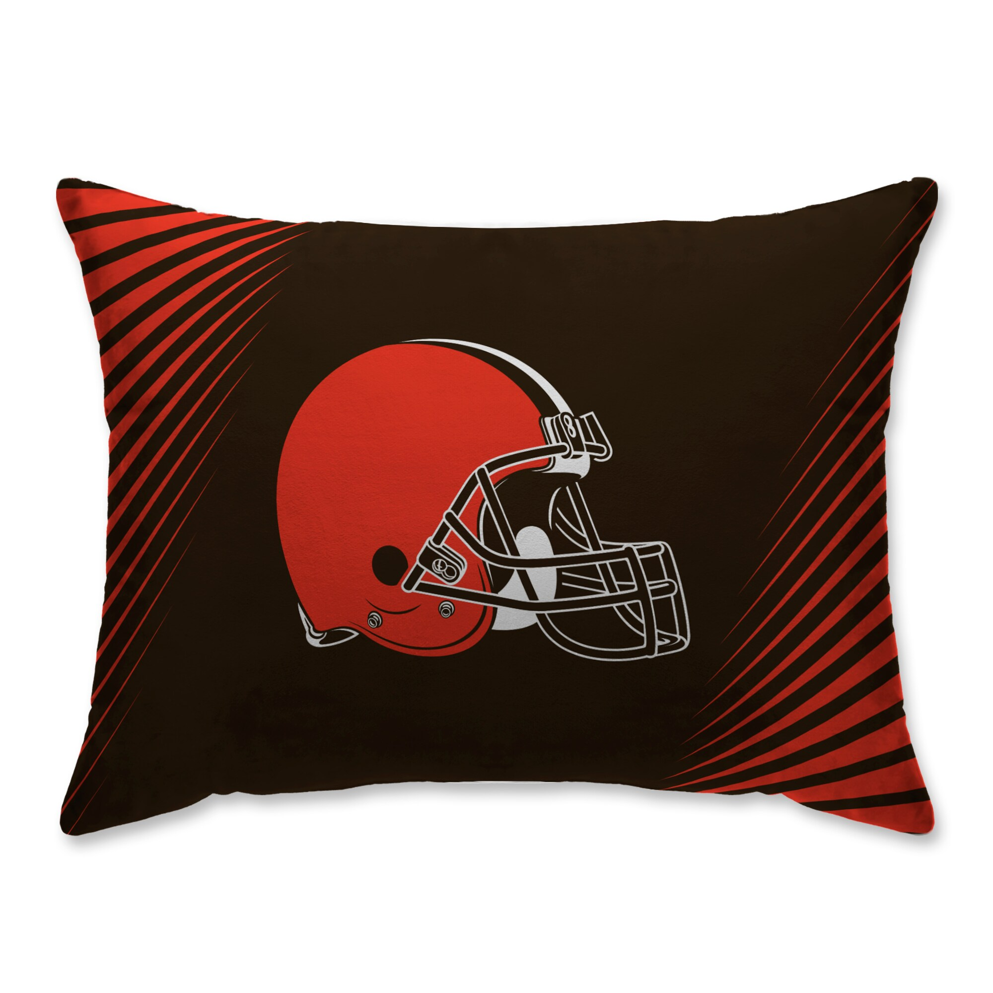 Cleveland Browns Side Streak Plush Standard Pillow Protector - Brown