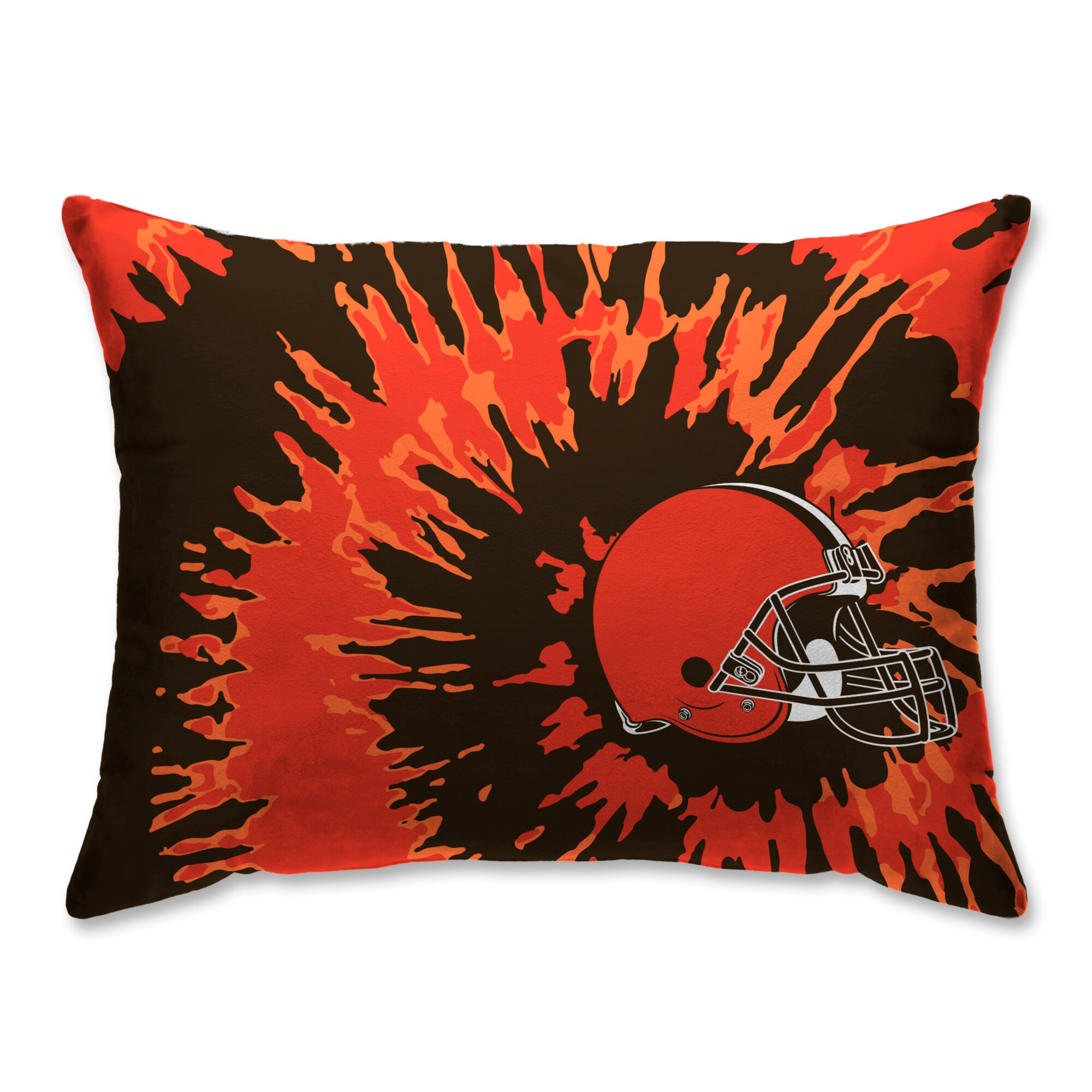 Cleveland Browns Tie Dye Plush Bed Pillow - Brown