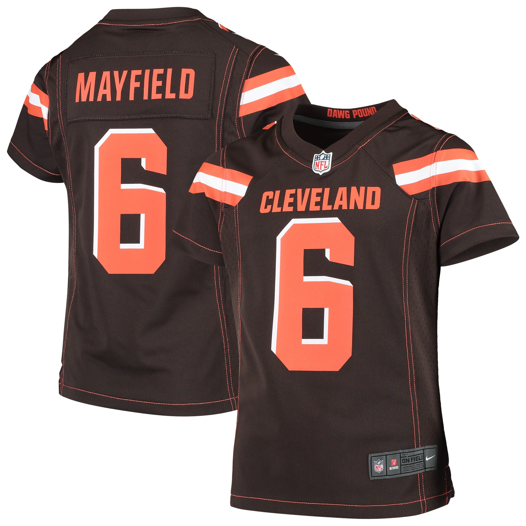 Baker Mayfield Cleveland Browns Nike Girls Youth Game Jersey - Brown