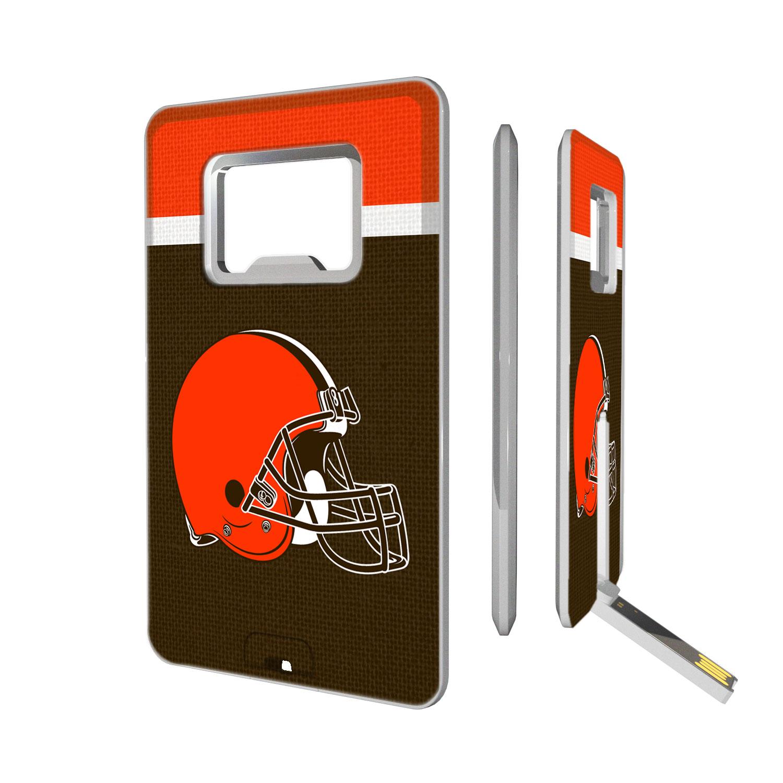 Cleveland Browns Striped Credit Card USB Drive & Bottle Opener