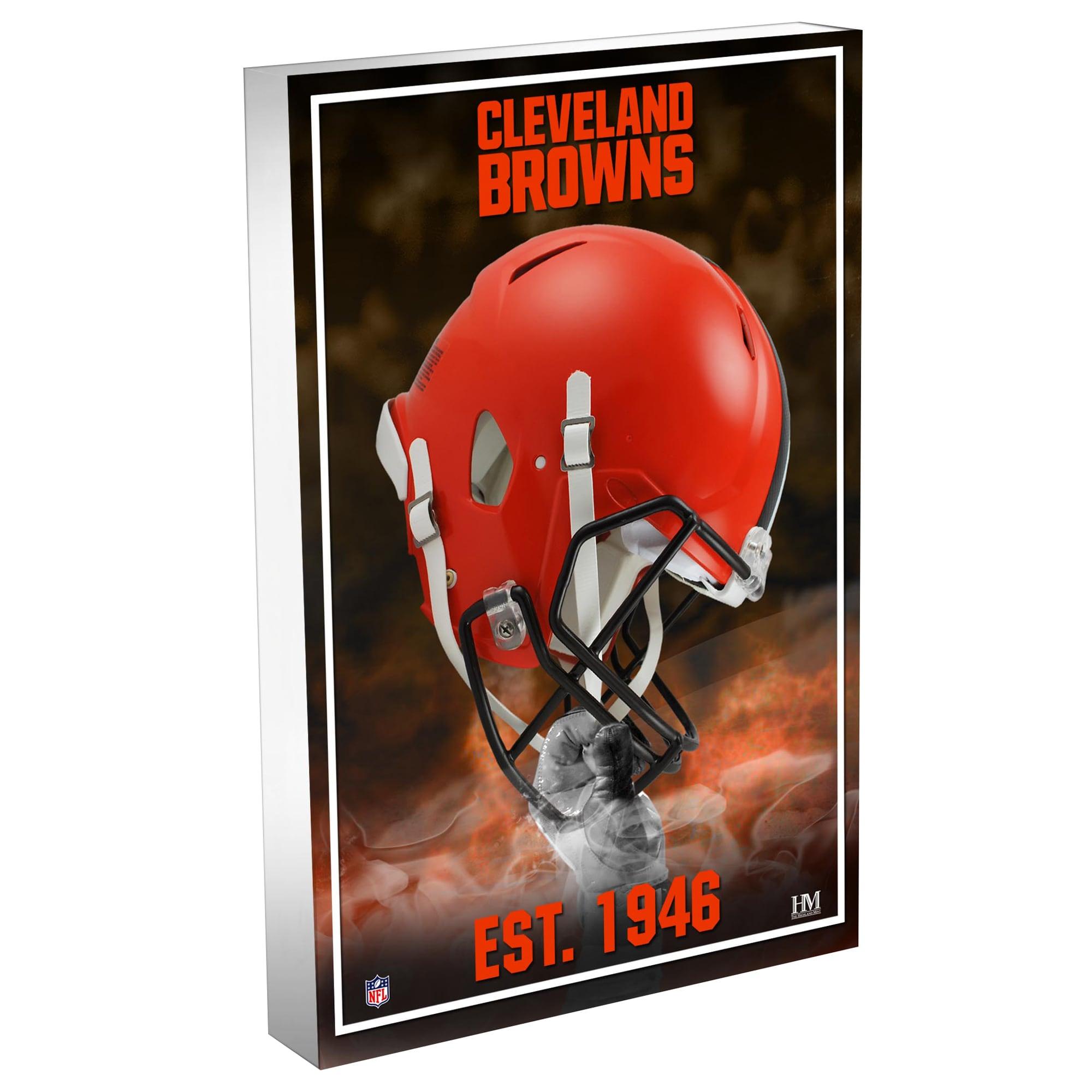 Cleveland Browns Highland Mint 4'' x 6'' Team Pride 3D Acrylic BlocKart