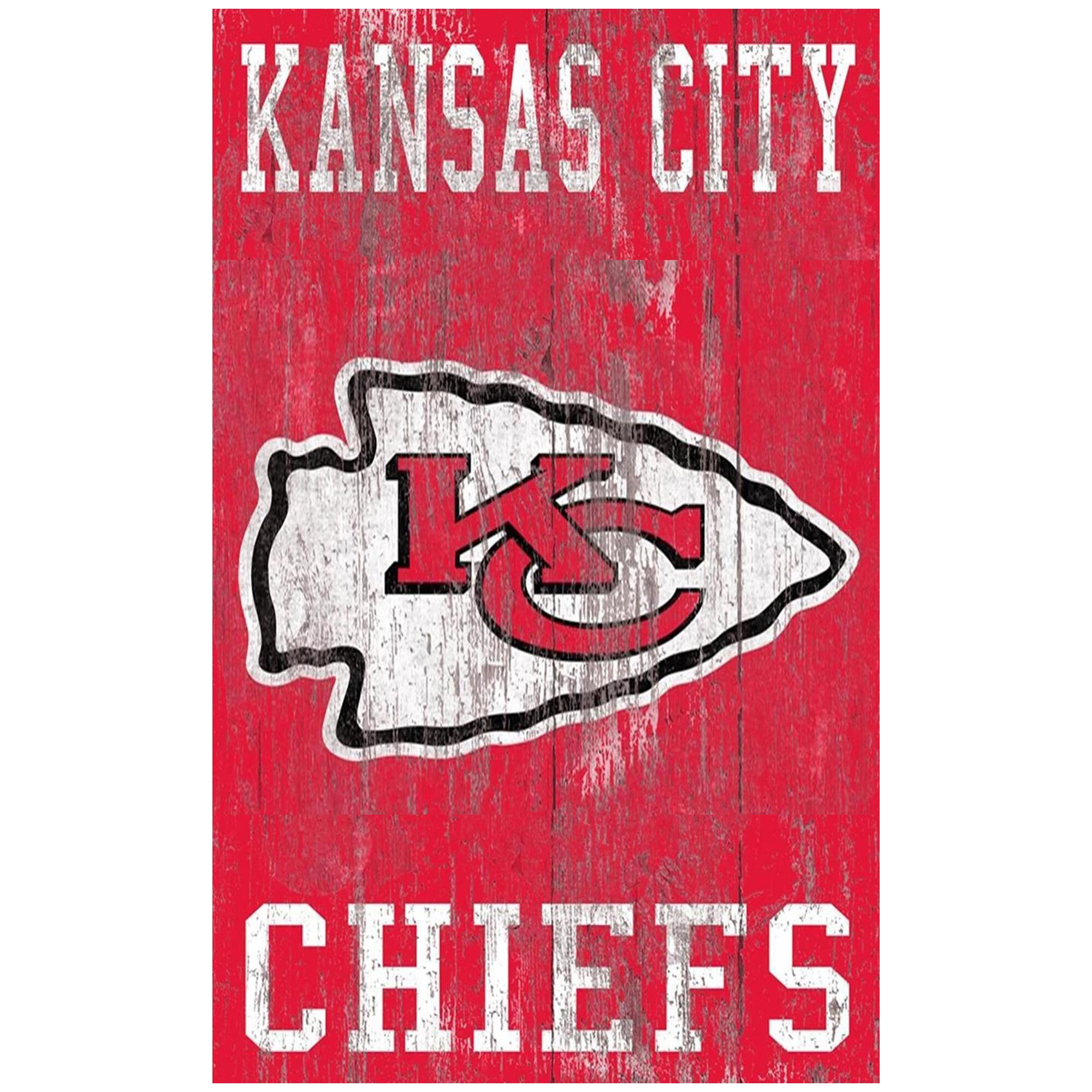 Kansas City Chiefs 11'' x 19'' Heritage Distressed Logo Sign
