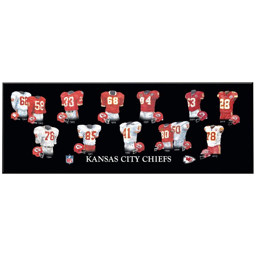 Kansas City Chiefs 8'' x 24'' Uniform Evolution Plaque