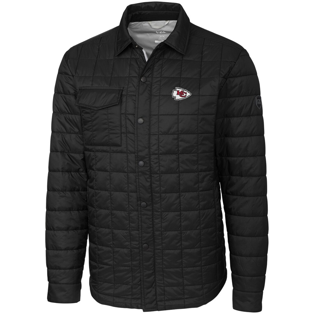 Kansas City Chiefs Cutter & Buck Rainier Shirt Jacket - Black