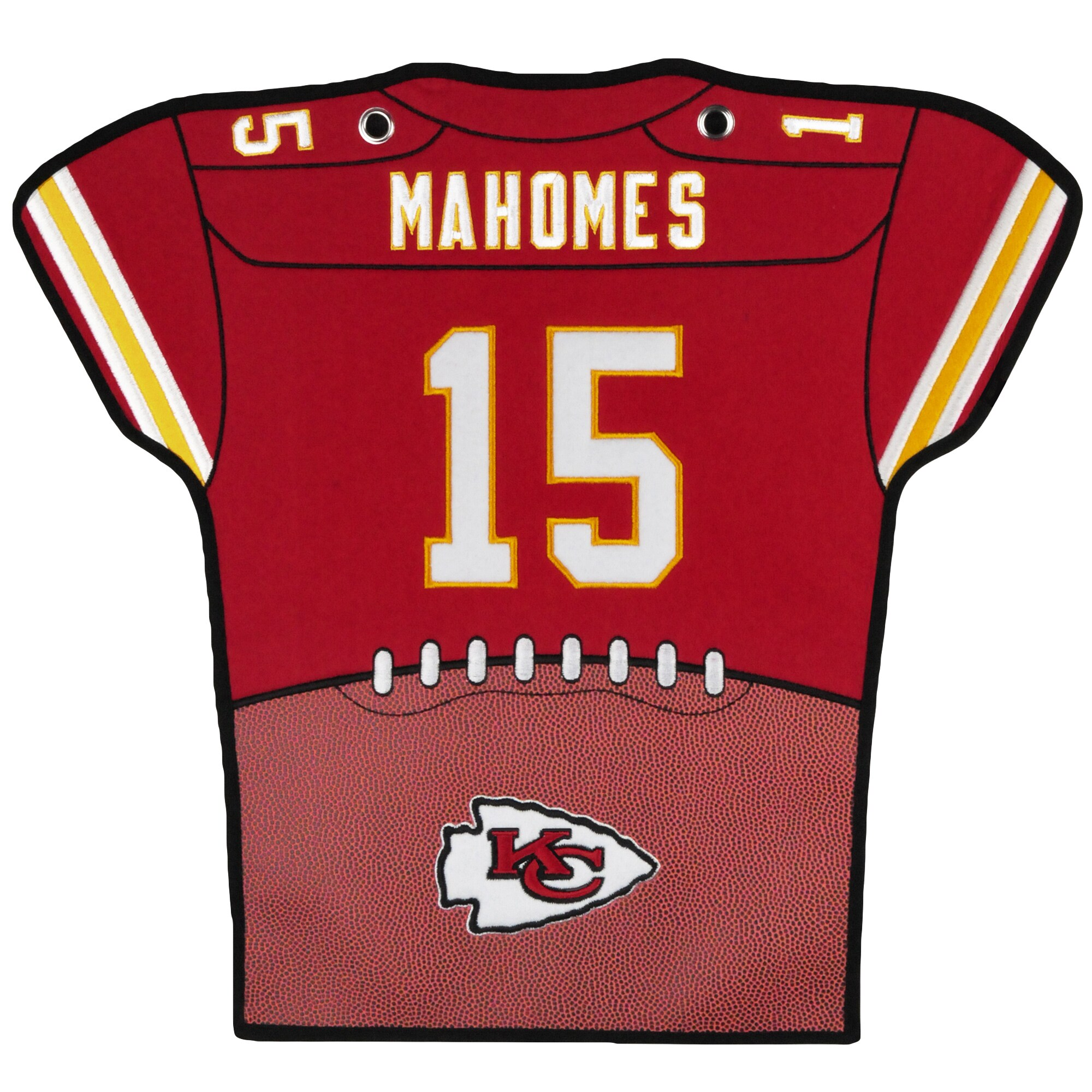 Patrick Mahomes Kansas City Chiefs 14'' x 22'' Jersey Traditions Banner - Red/Yellow