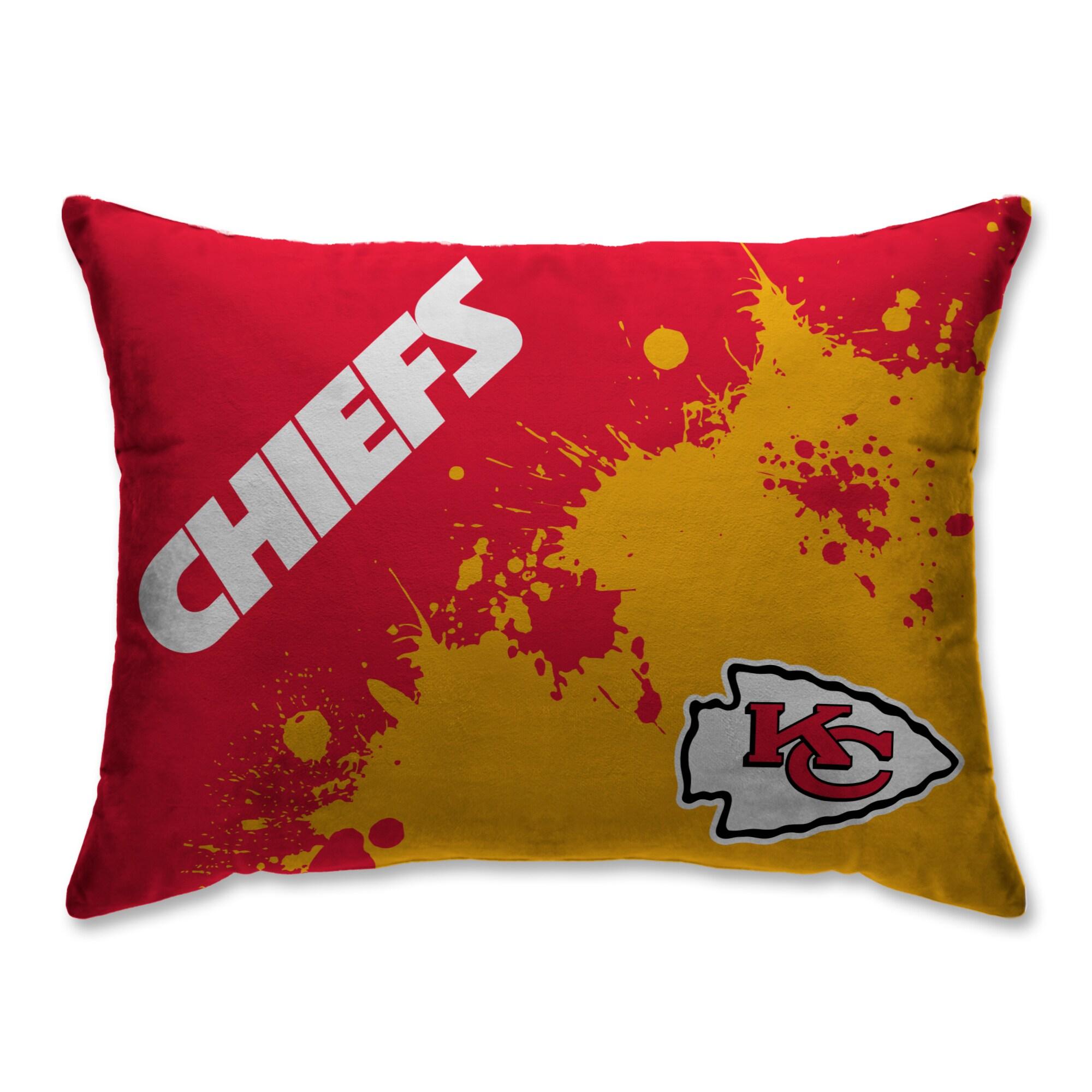 Kansas City Chiefs Splatter Plush Bed Pillow - Red