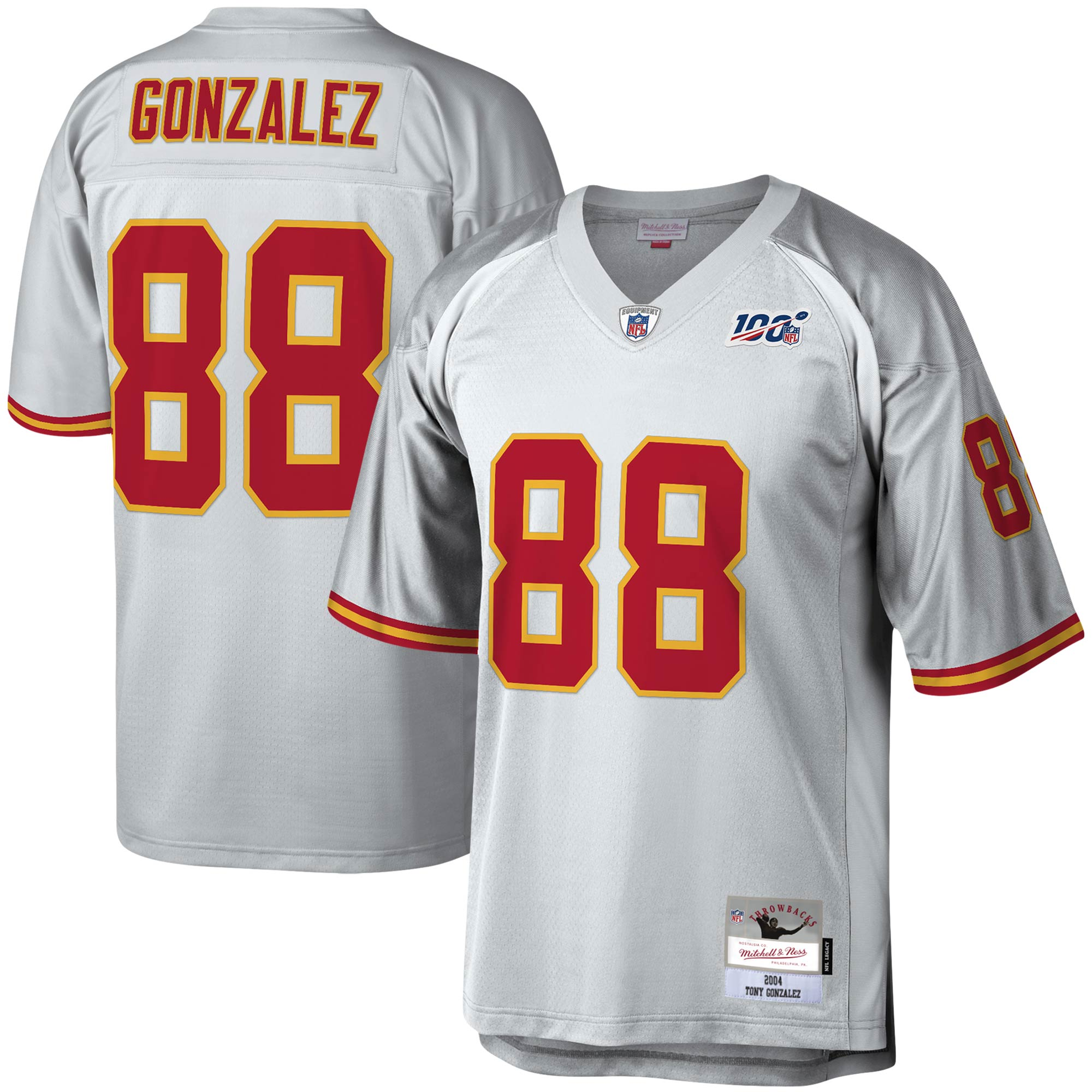 Tony Gonzalez Kansas City Chiefs Mitchell & Ness NFL 100 Retired Player Legacy Jersey - Platinum