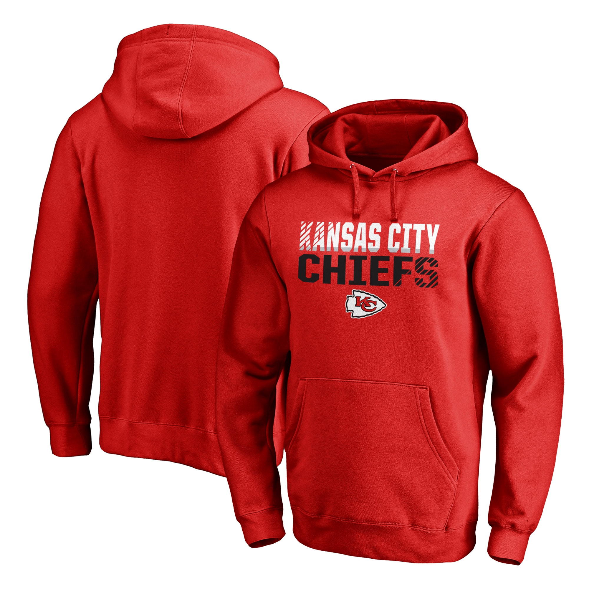 Kansas City Chiefs NFL Pro Line by Fanatics Branded Iconic Collection Fade Out Pullover Hoodie - Red