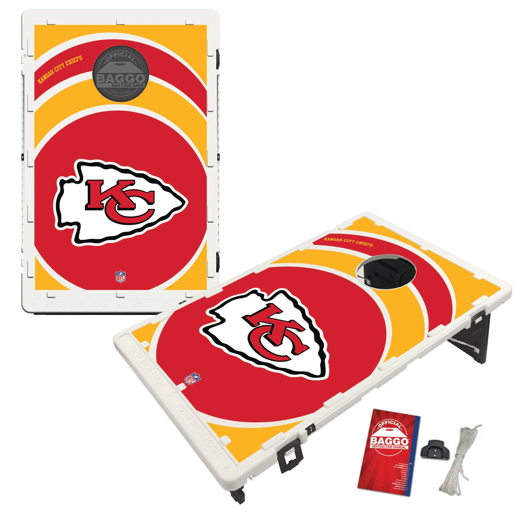 Kansas City Chiefs 2' x 3' BAGGO Vortex Cornhole Board Tailgate Toss Set