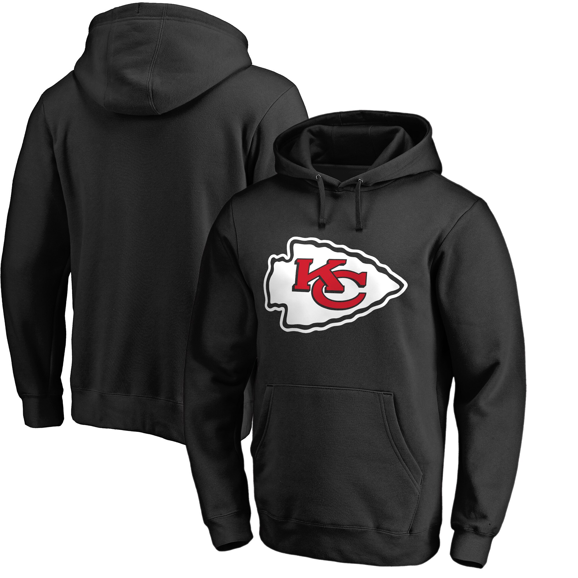 Kansas City Chiefs NFL Pro Line by Fanatics Branded Primary Logo Pullover Hoodie - Black
