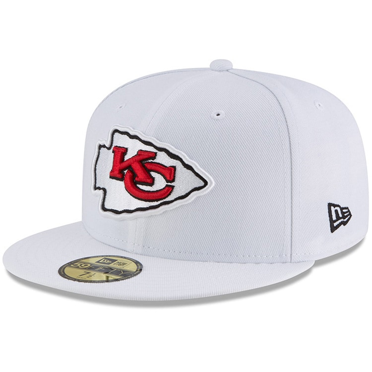 Kansas City Chiefs New Era Omaha 59FIFTY Fitted Hat - White