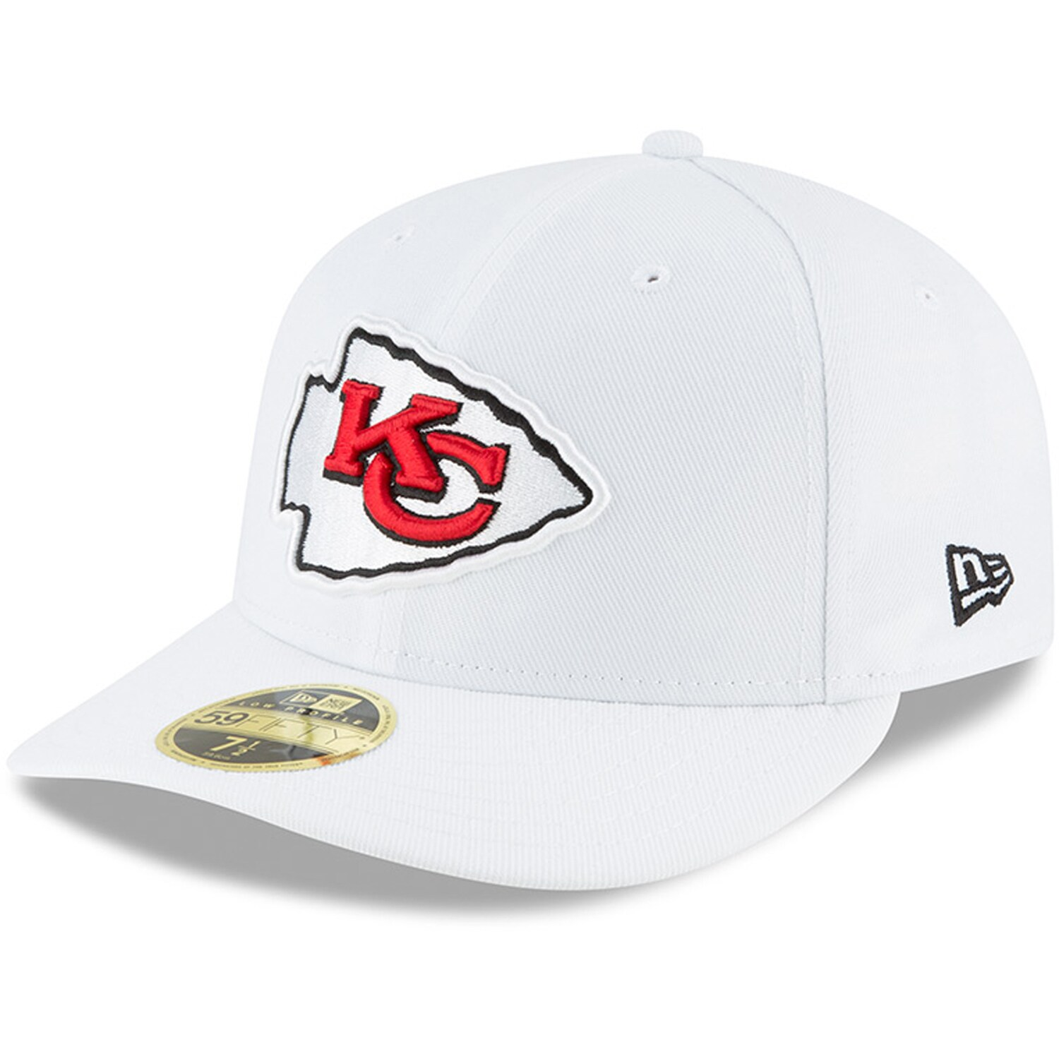 Kansas City Chiefs New Era Omaha Low Profile 59FIFTY Fitted Hat - White
