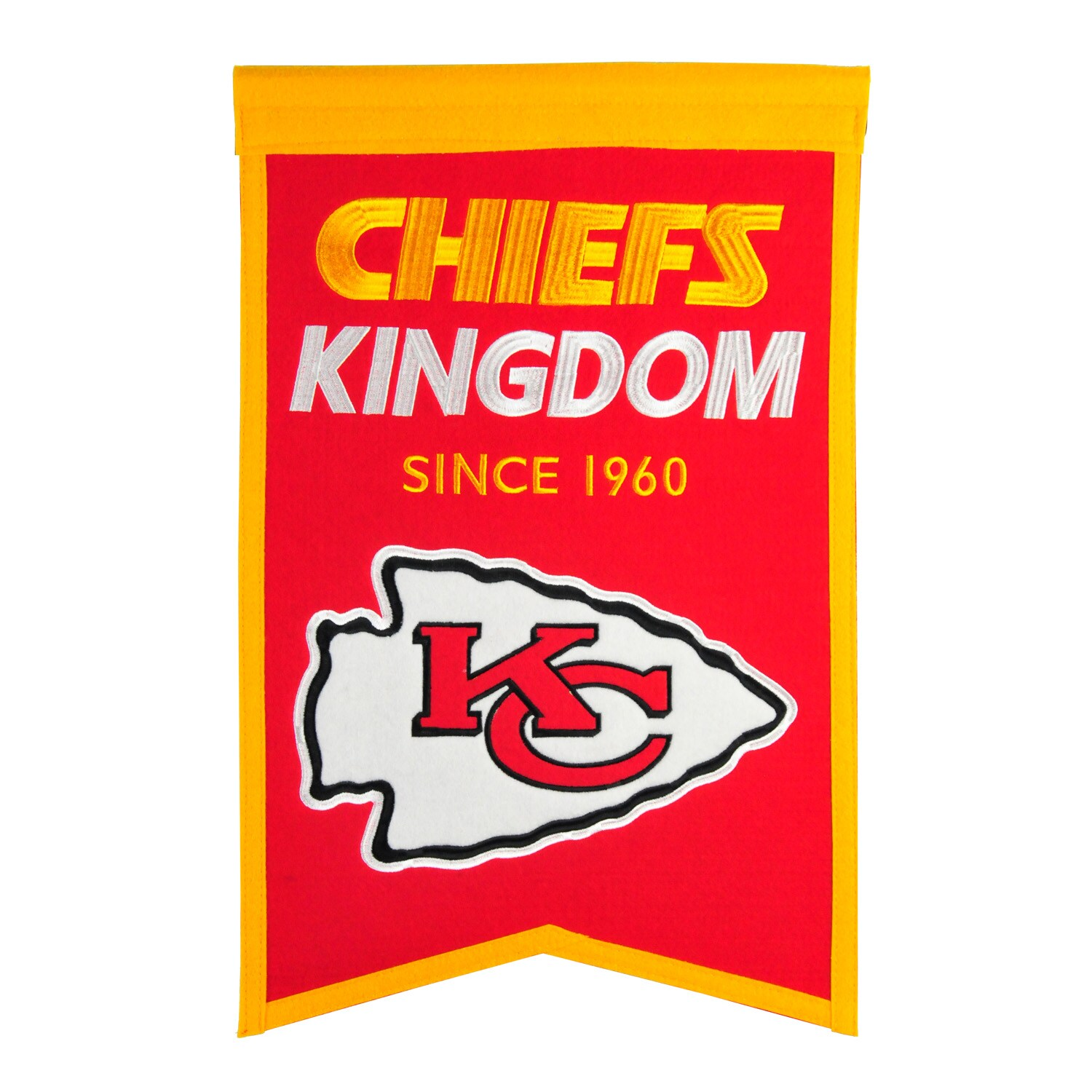"Kansas City Chiefs 14"" x 22"" Team Franchise Banner"