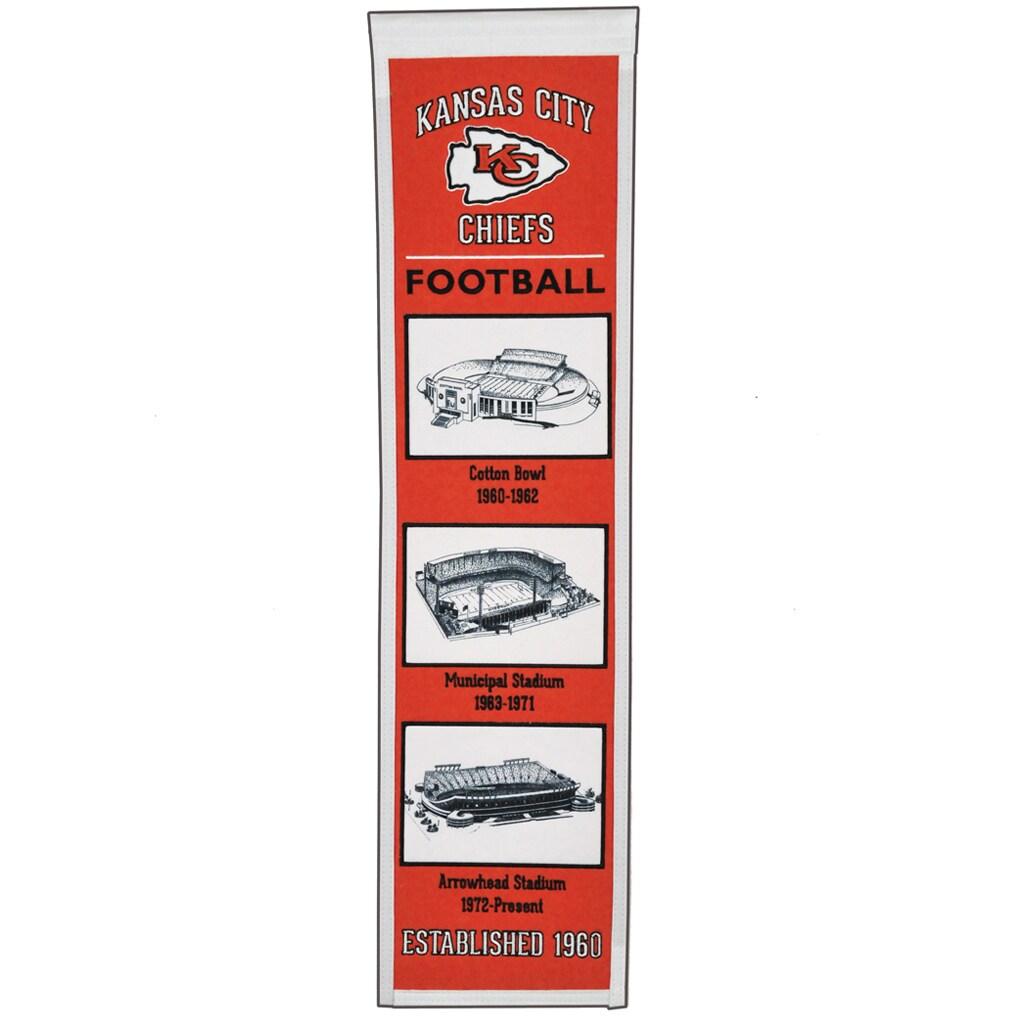 "Kansas City Chiefs 8"" x 32"" Transformation Banner"