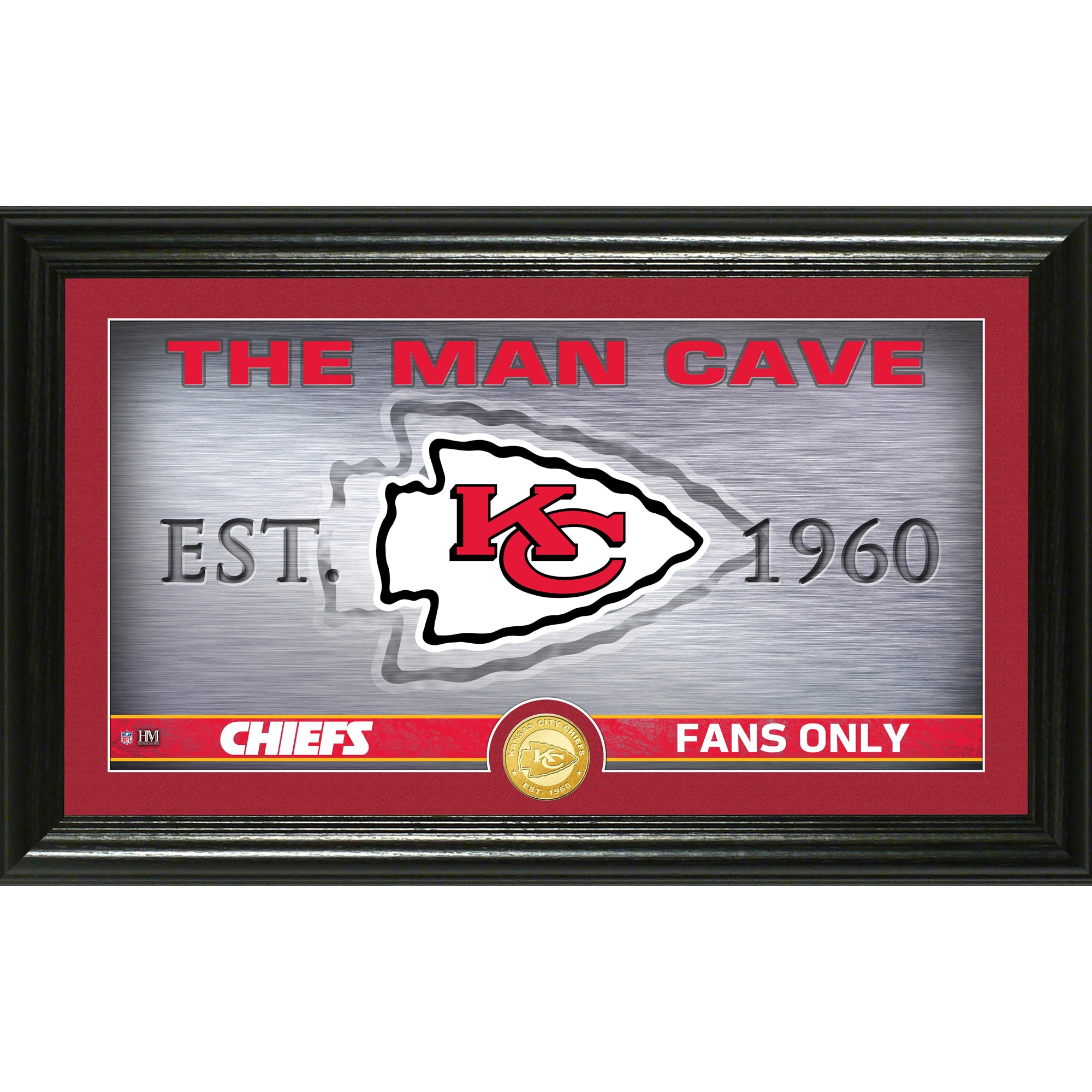 "Kansas City Chiefs Highland Mint 12"" x 20"" Man Cave Photo Mint"