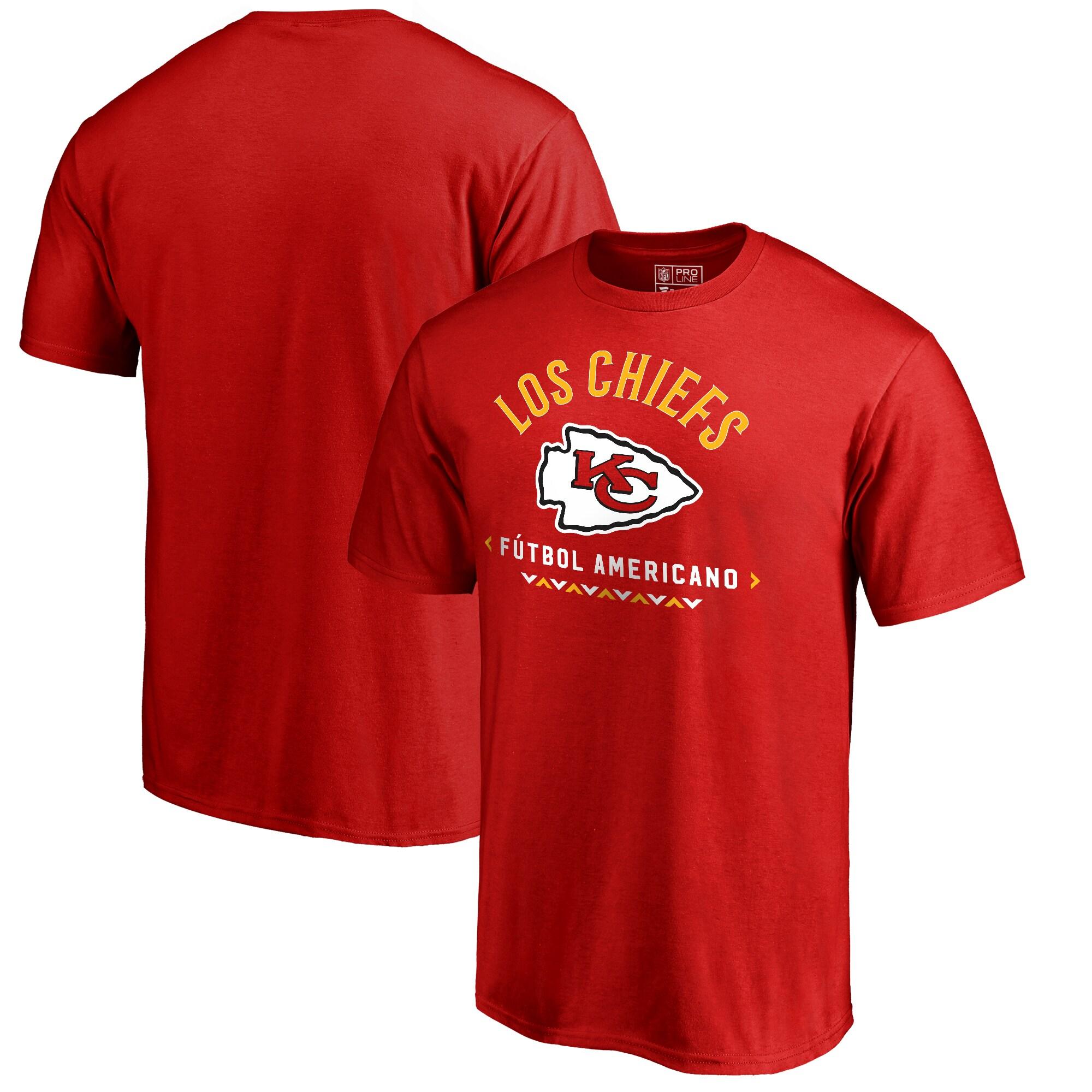 Kansas City Chiefs NFL Pro Line by Fanatics Branded Futbol Americano Big & Tall T-Shirt - Red