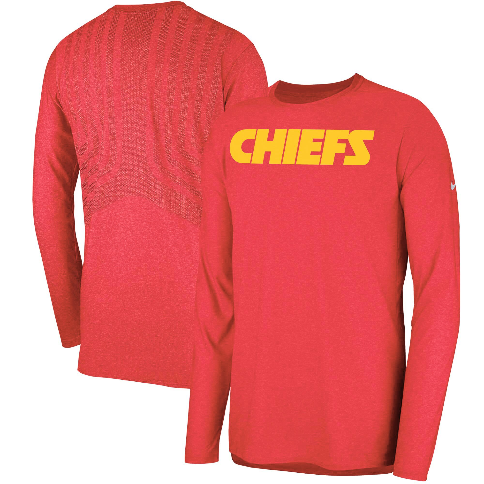 Kansas City Chiefs Nike Sideline Player Long Sleeve T-Shirt - Red