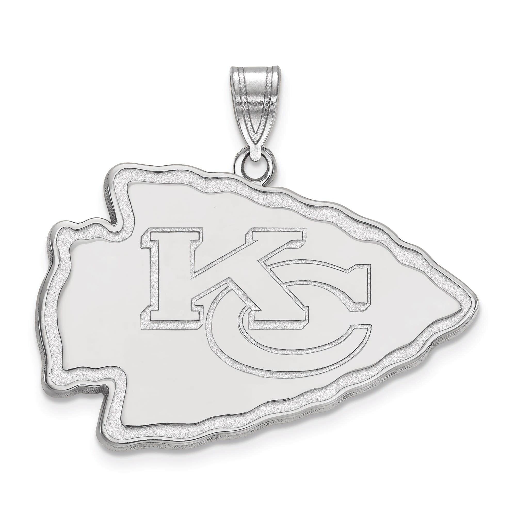 Kansas City Chiefs Women's Sterling Silver XL Pendant