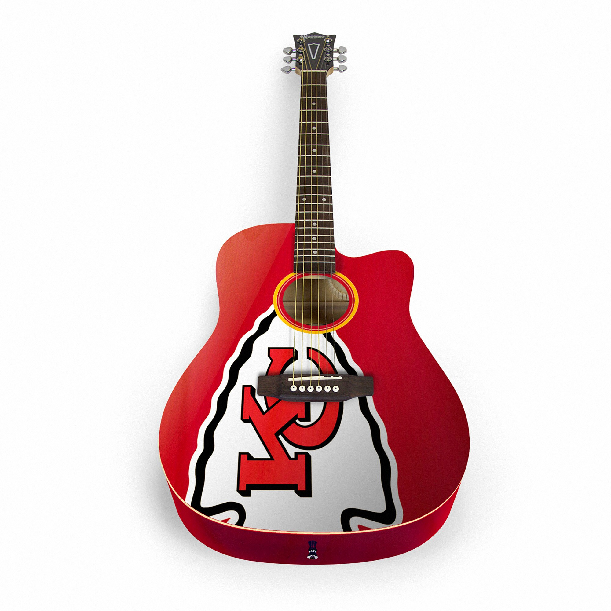 Kansas City Chiefs Woodrow Acoustic Guitar