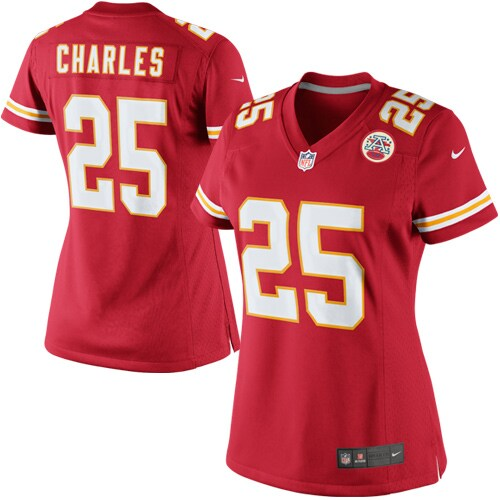 Jamaal Charles Kansas City Chiefs Nike Women's Limited Jersey - Red