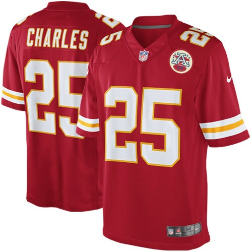 Jamaal Charles Kansas City Chiefs Nike Youth Limited Jersey - Red