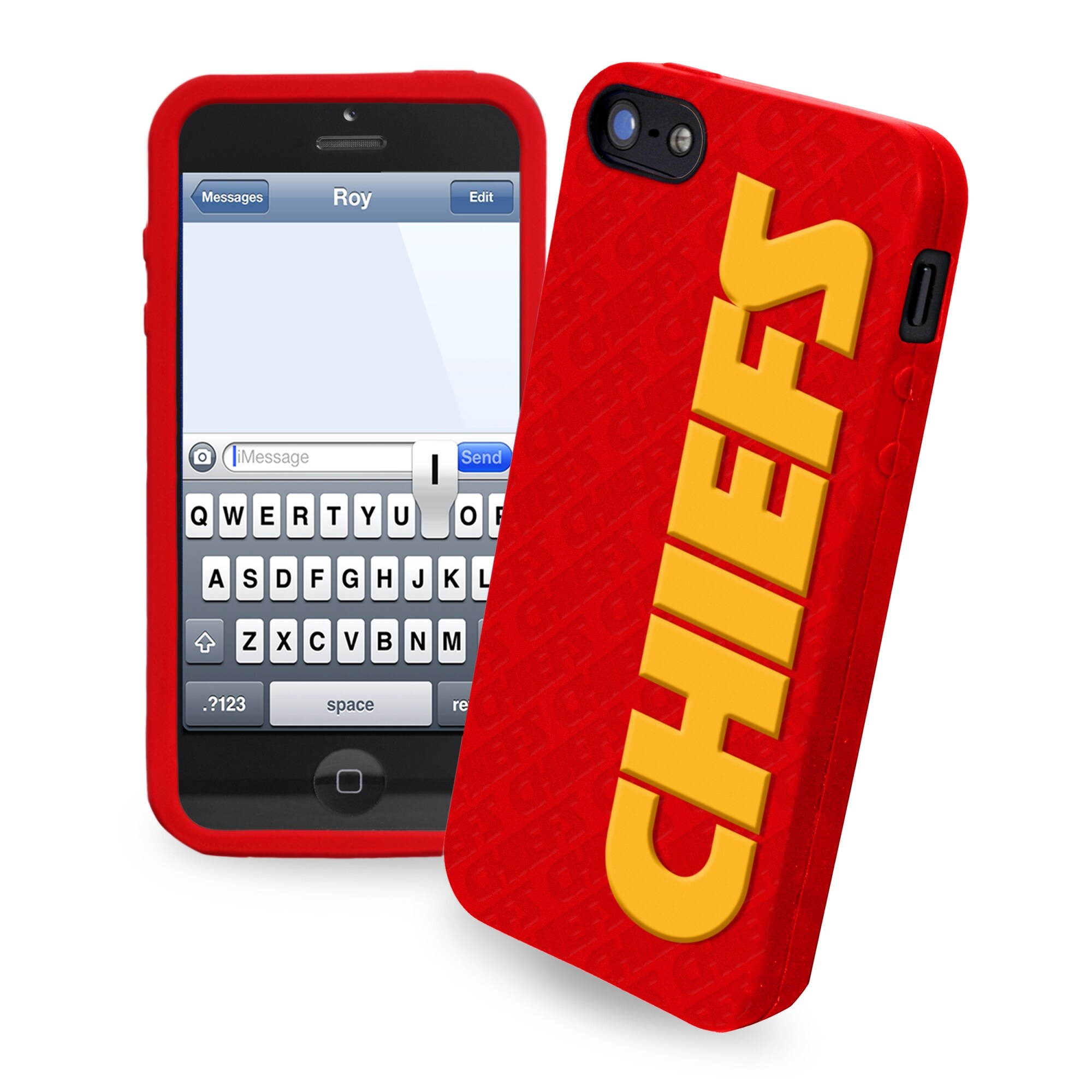 Kansas City Chiefs Silicone iPhone 5 Cover - Red