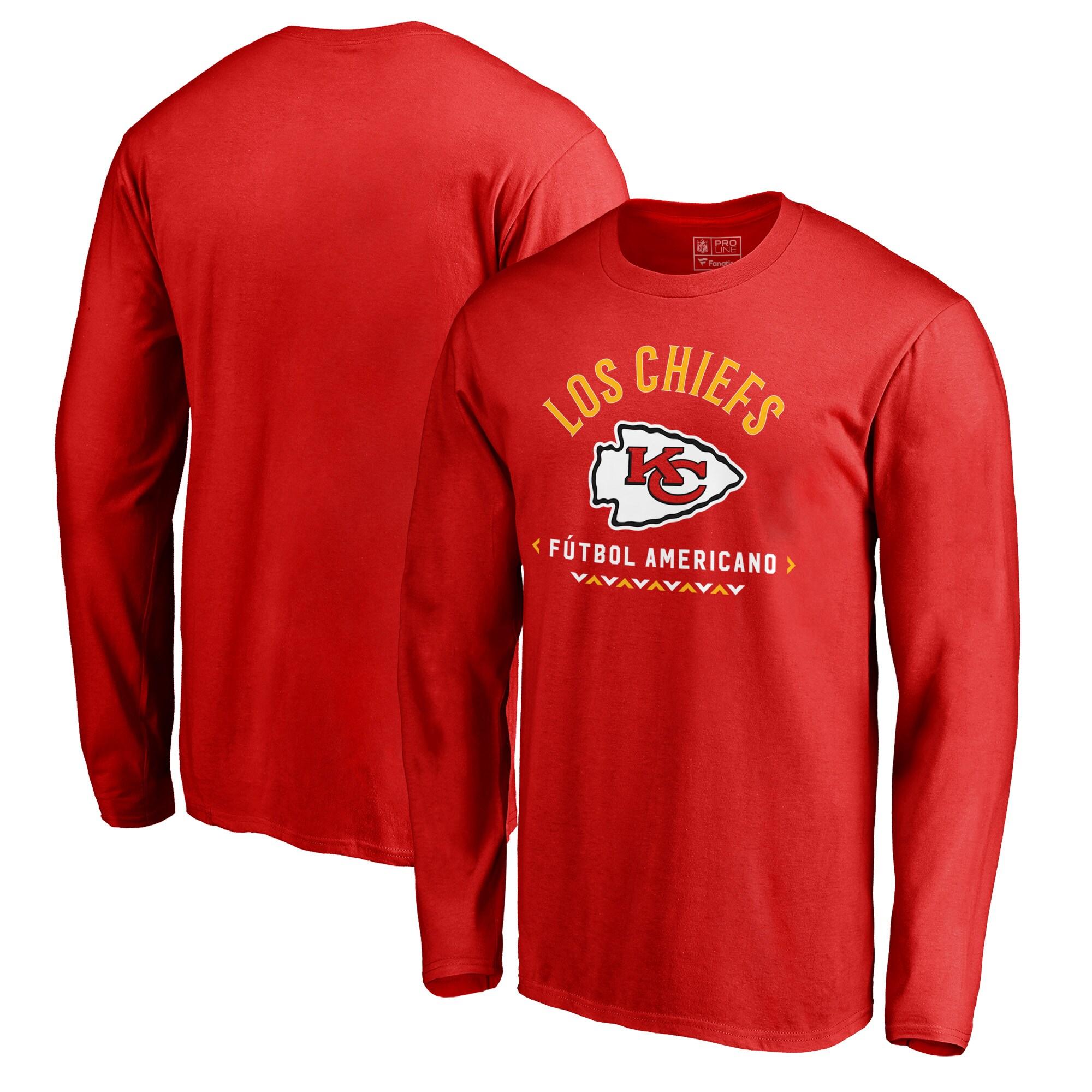 Kansas City Chiefs NFL Pro Line by Fanatics Branded Futbol Americano Long Sleeve T-Shirt - Red