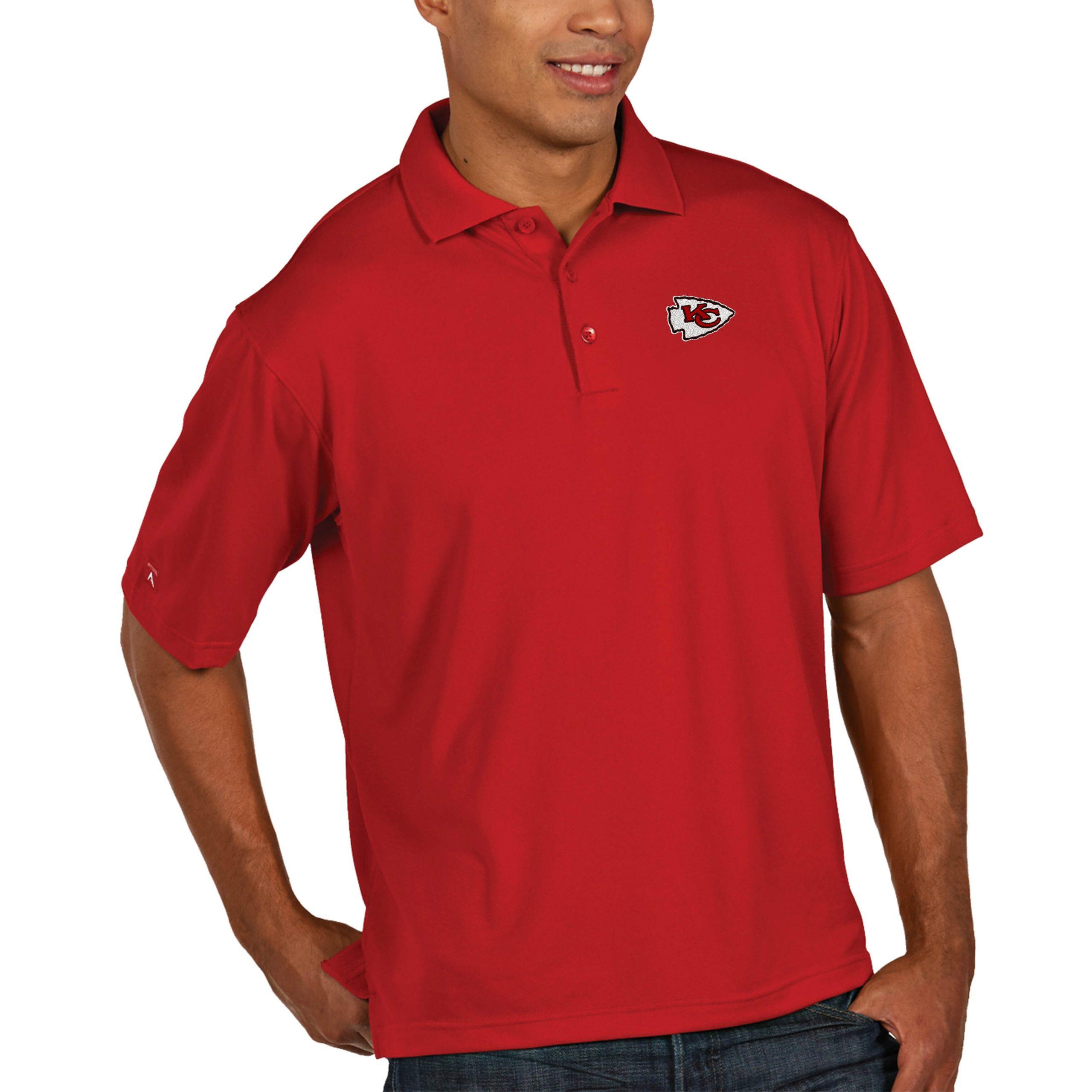 Kansas City Chiefs Antigua Pique Xtra Lite Big & Tall Polo - Red