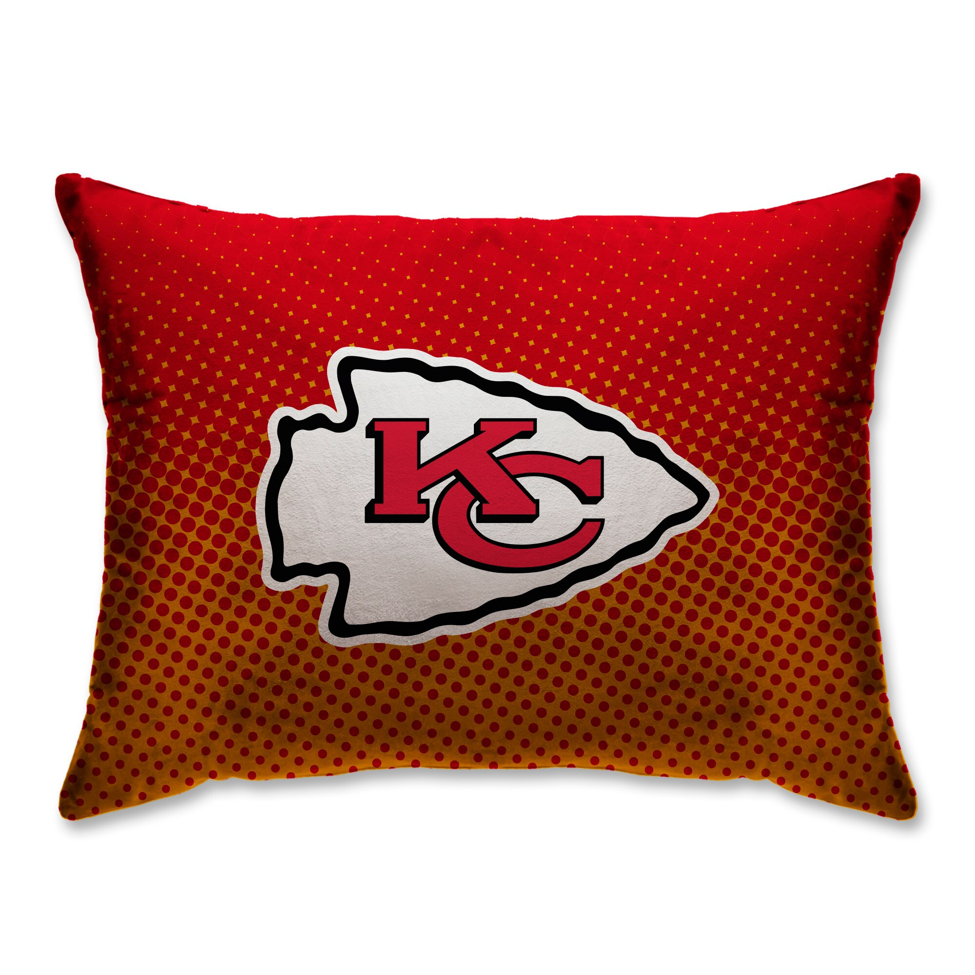 "Kansas City Chiefs 20"" x 26"" Dot Decorative Bed Pillow"
