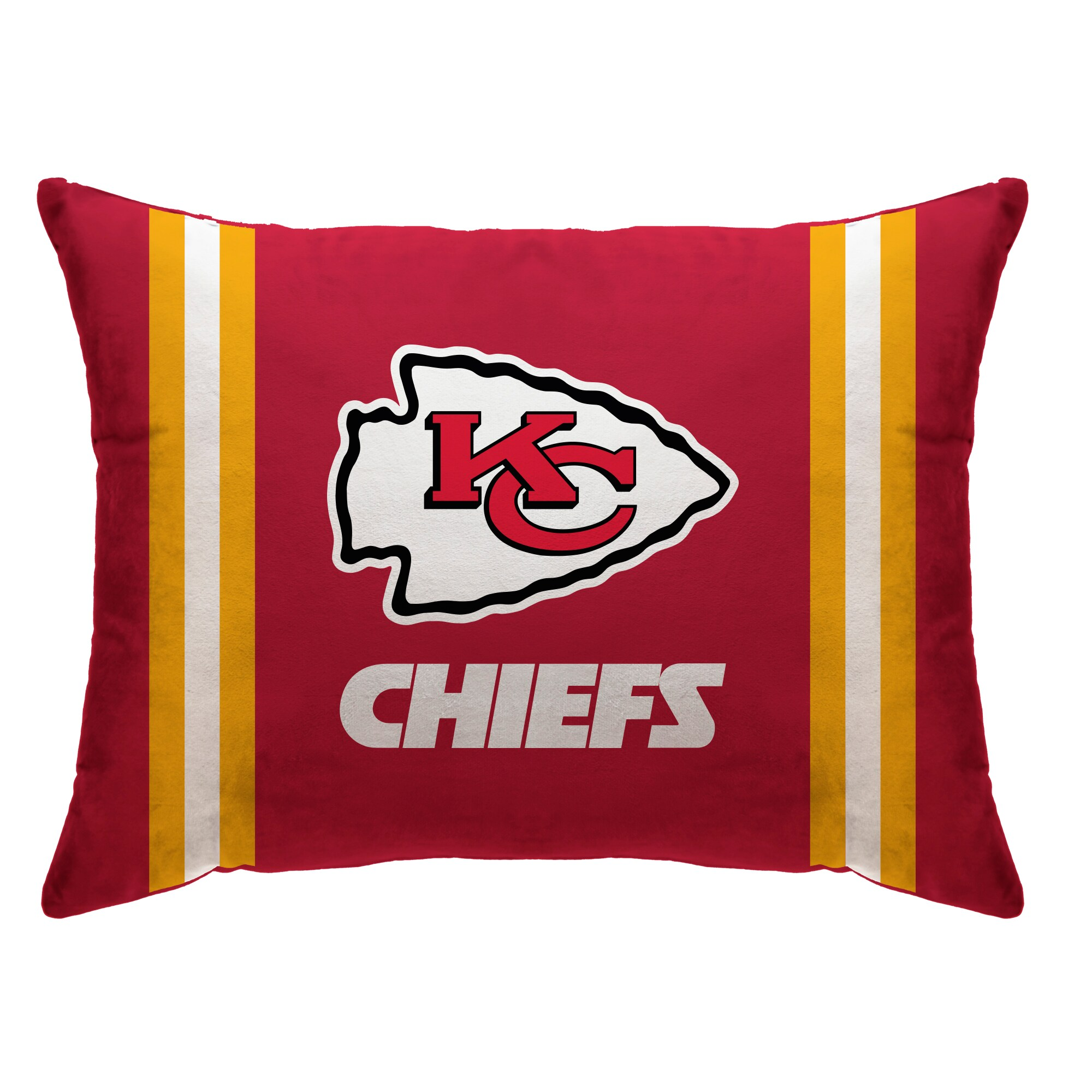 "Kansas City Chiefs 20"" x 26"" Plush Bed Pillow - Red"