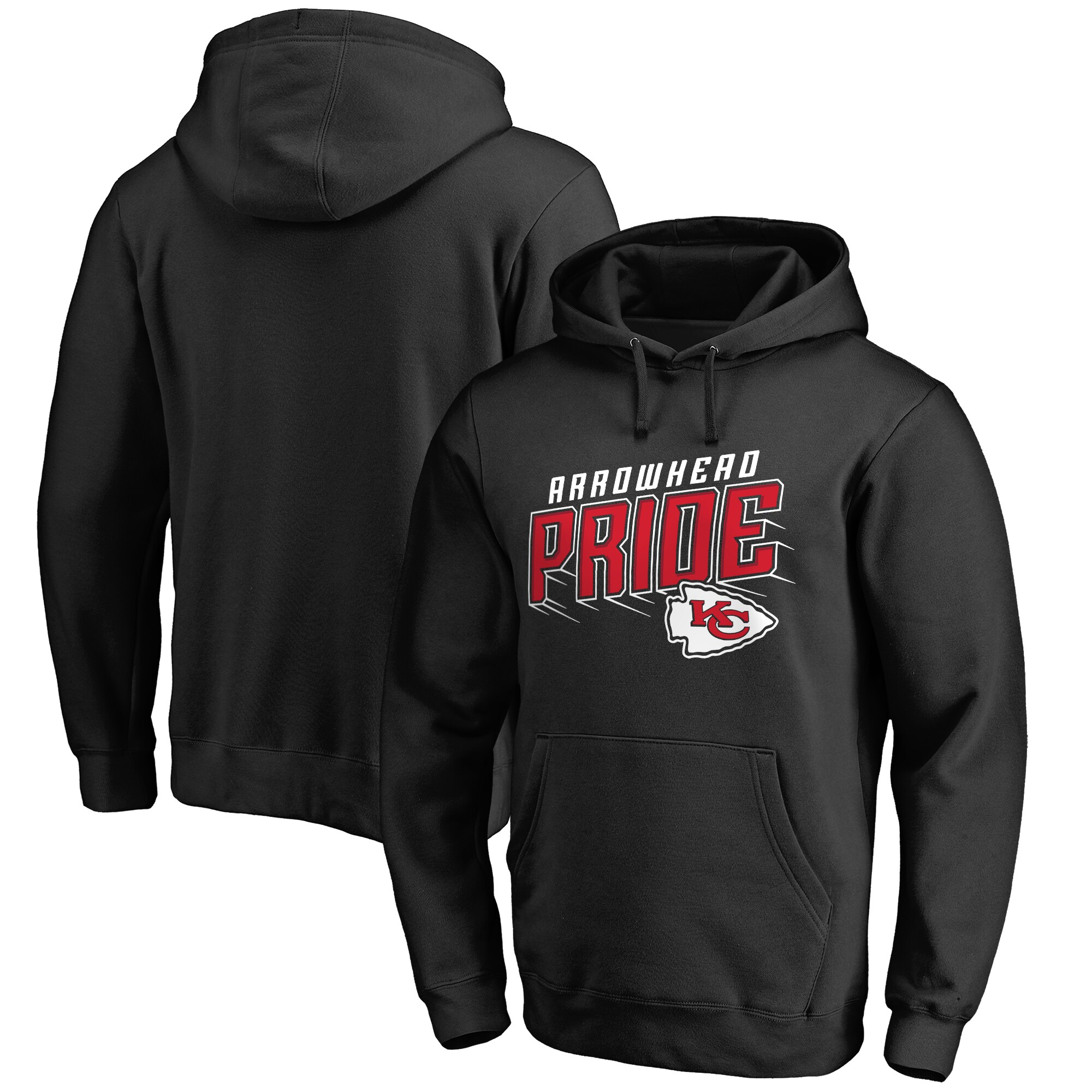 Kansas City Chiefs NFL Pro Line by Fanatics Branded Hometown Collection Arrowhead Pride Pullover Hoodie - Black
