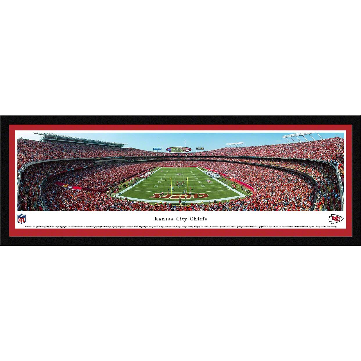 "Kansas City Chiefs 16"" x 42"" Select Frame Panoramic Photo"