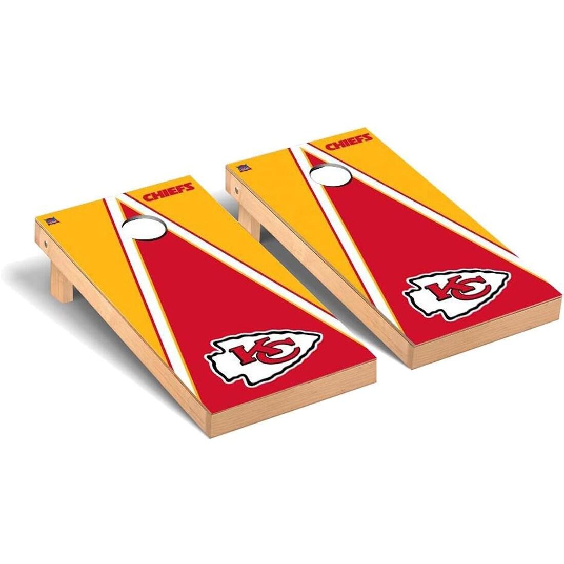 Kansas City Chiefs 2' x 4' Triangle Cornhole Board Tailgate Toss Set