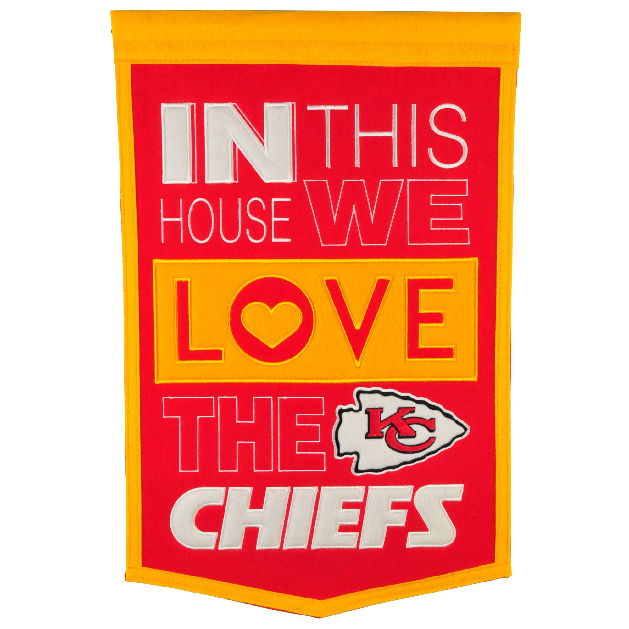 Kansas City Chiefs 15'' x 24'' Home Banner