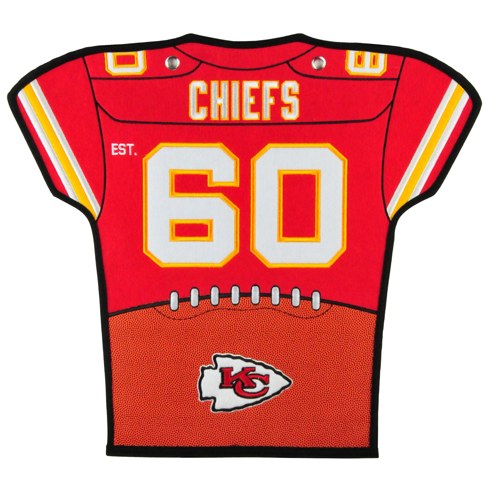 Kansas City Chiefs 20'' x 18'' Jersey Traditions Banner