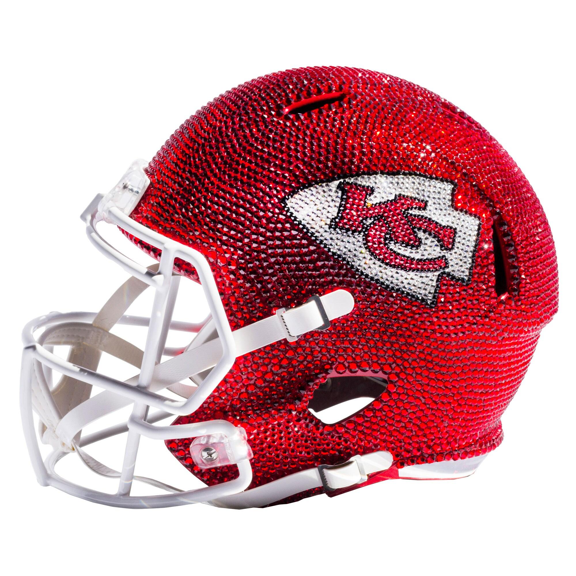 Kansas City Chiefs Swarovski Crystal Large Football Helmet