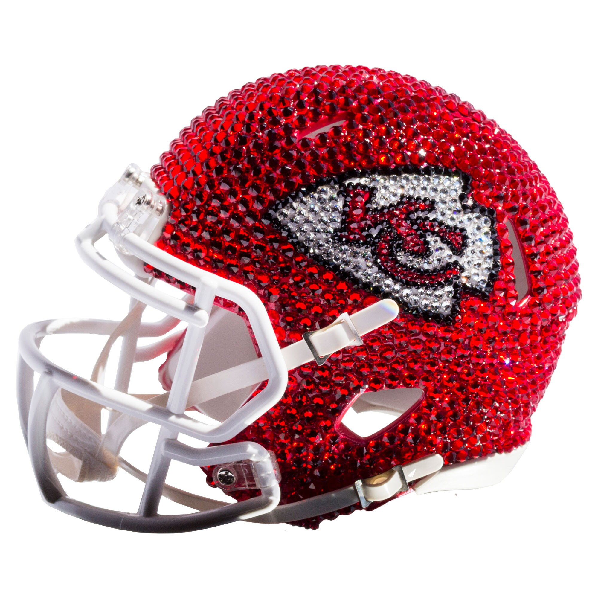 Kansas City Chiefs Swarovski Crystal Mini Football Helmet