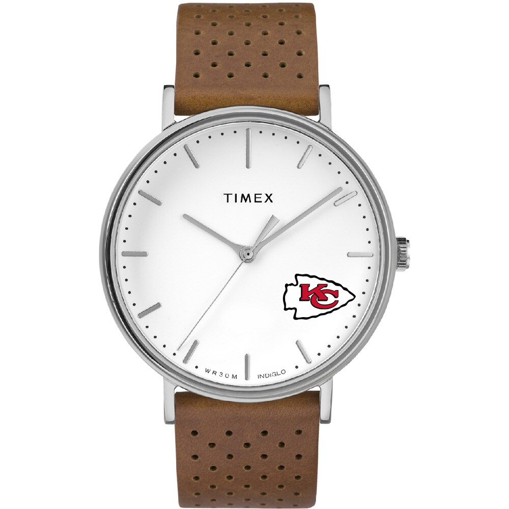 Kansas City Chiefs Timex Bright Whites Tribute Collection Watch
