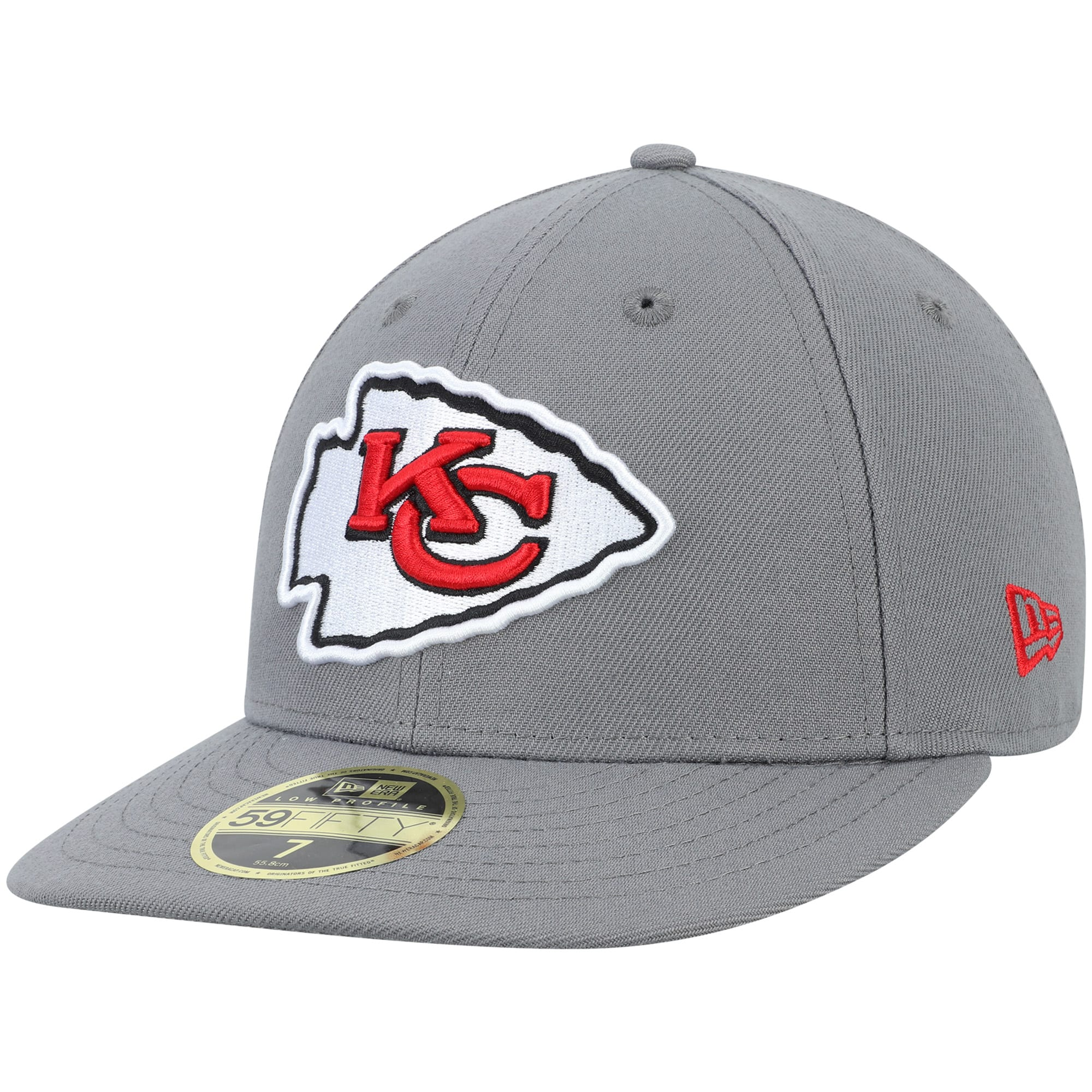Kansas City Chiefs New Era Storm Low Profile 59FIFTY Fitted Hat - Graphite