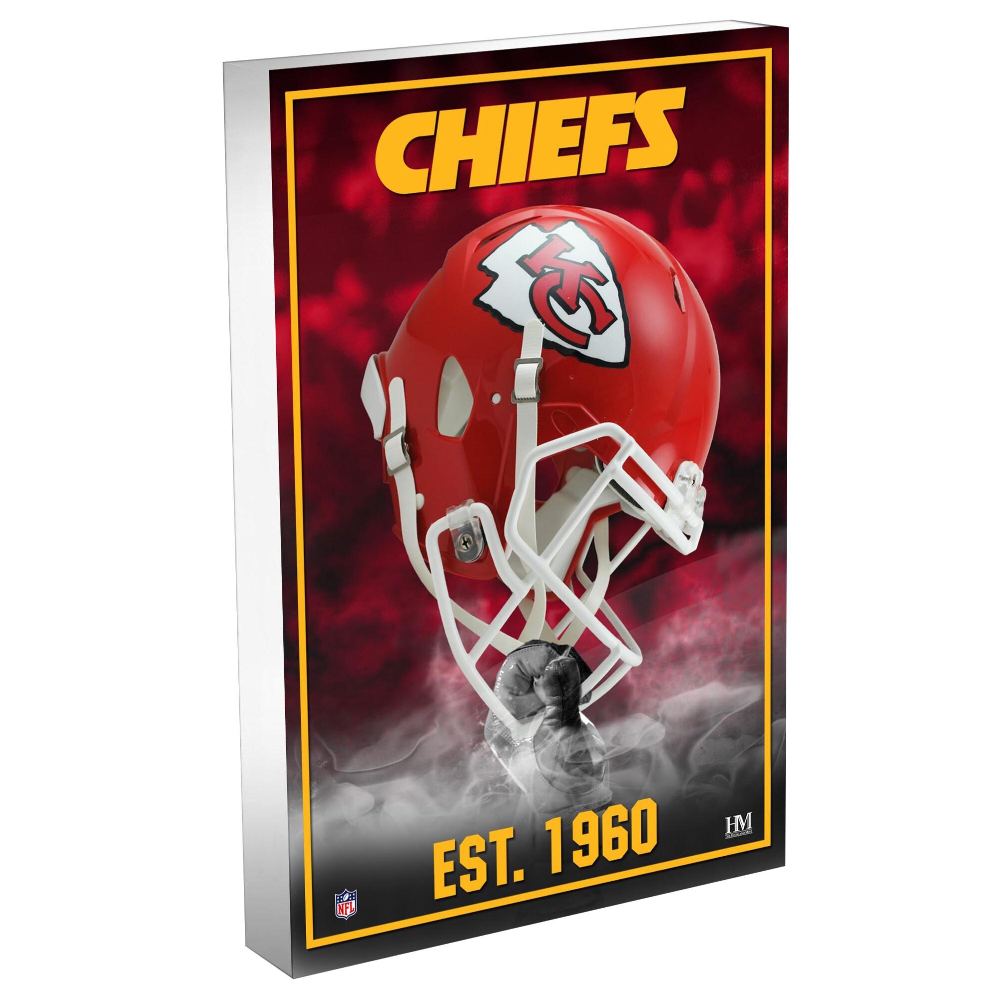 Kansas City Chiefs Highland Mint 4'' x 6'' Team Pride 3D Acrylic BlocKart