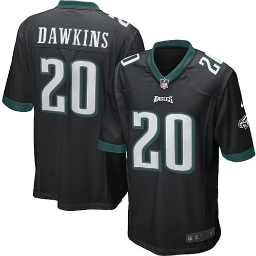 Brian Dawkins Philadelphia Eagles Nike Alternate Game Jersey - Black
