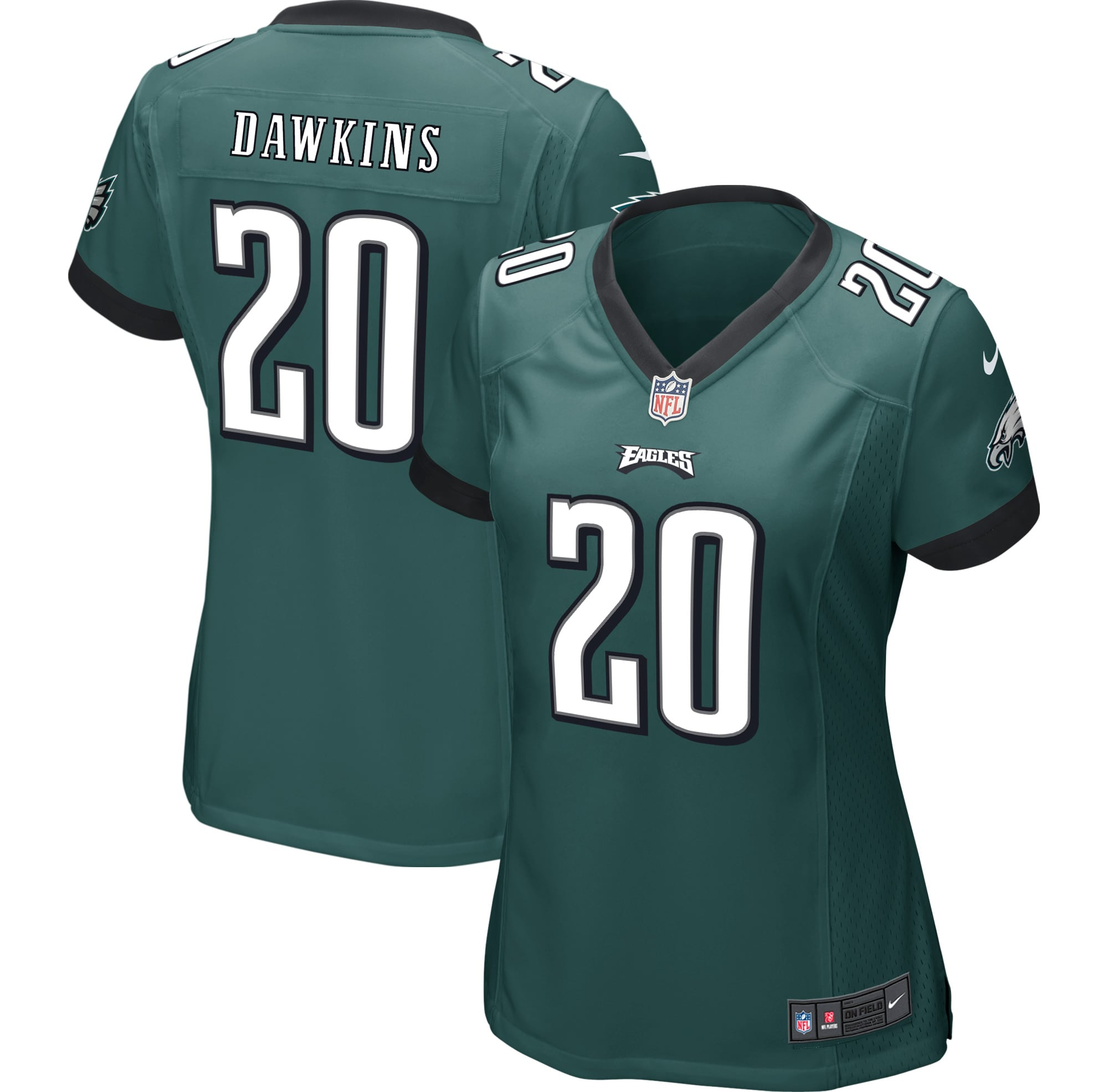 Brian Dawkins Philadelphia Eagles Nike Women's Game Jersey - Midnight Green