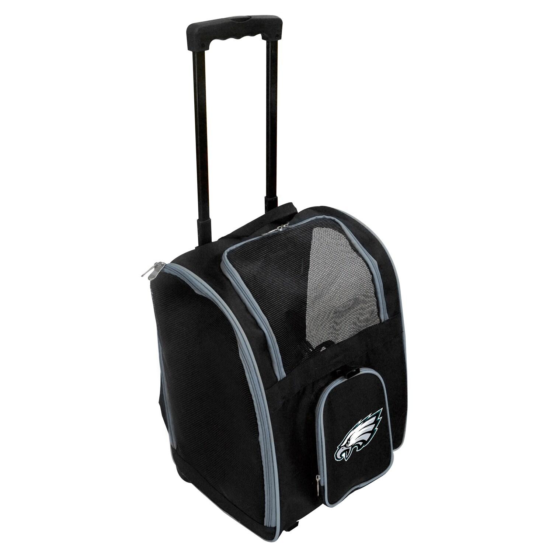 Philadelphia Eagles 2-Wheeled Roller Pet Carrier - Black
