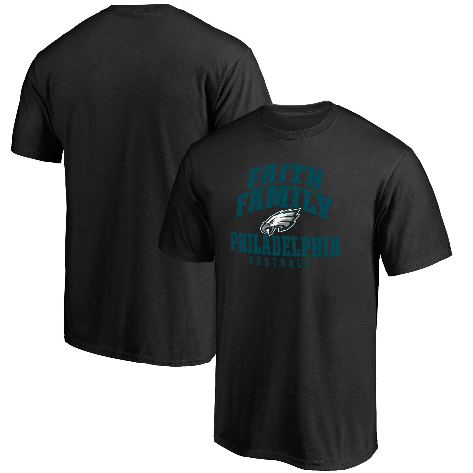 Philadelphia Eagles NFL Pro Line Faith Family T-Shirt - Black