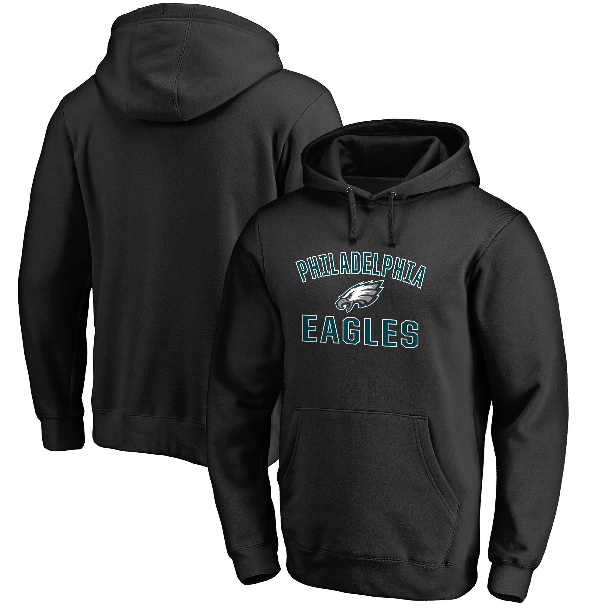 Philadelphia Eagles NFL Pro Line Big & Tall Victory Arch Pullover Hoodie - Black
