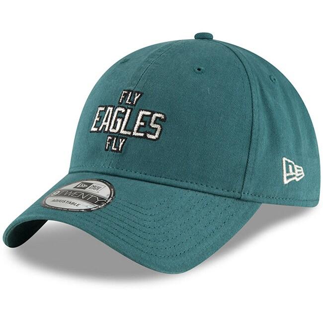 Fly Eagles Fly Philadelphia Eagles New Era Super Bowl LII Champions 9TWENTY Adjustable Hat - Midnight Green